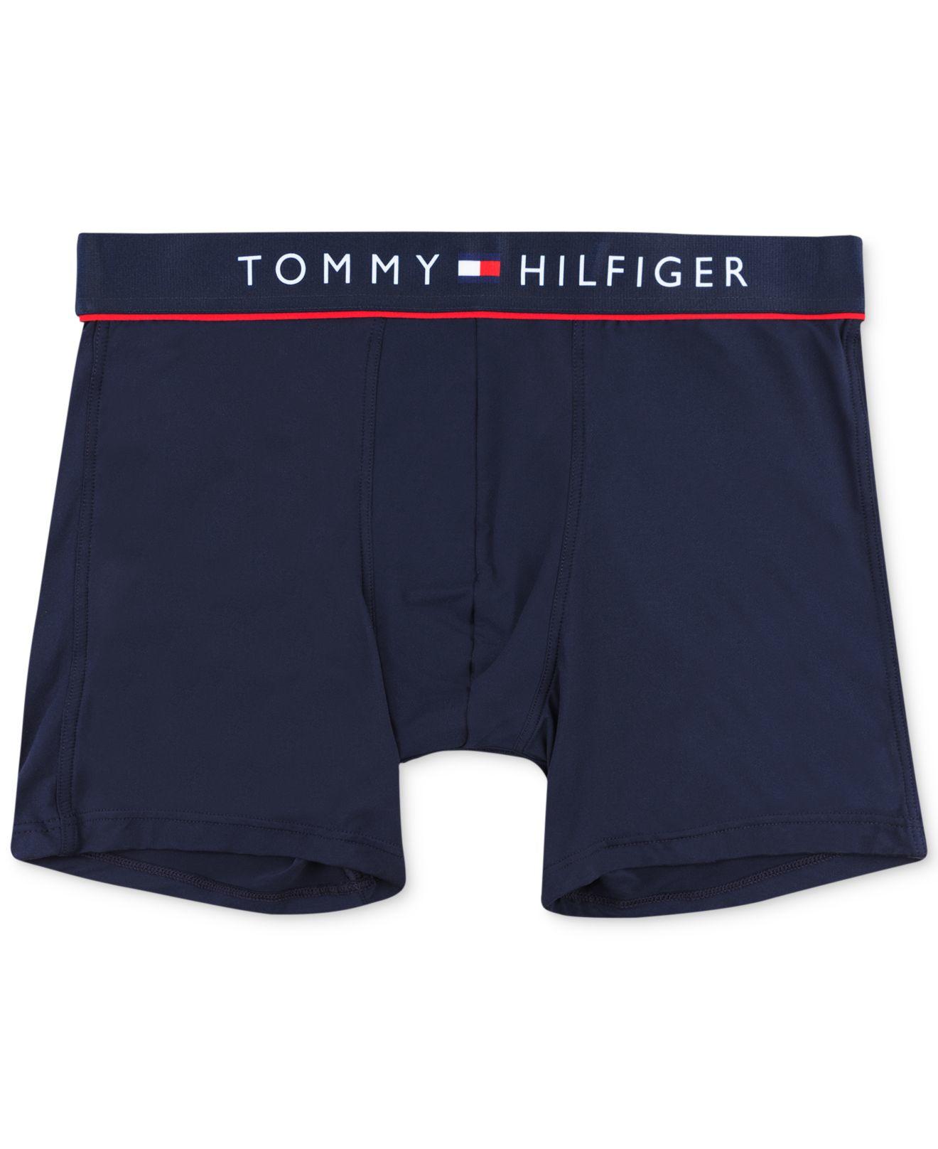 tommy hilfiger cotton flex boxer briefs in blue for men. Black Bedroom Furniture Sets. Home Design Ideas