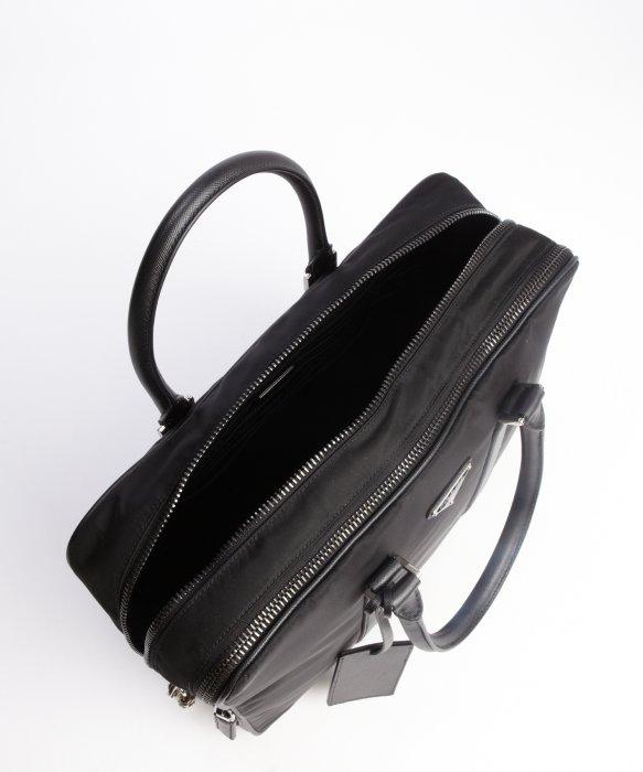 Prada Black Nylon and Leather Travel Bag in Black for Men | Lyst