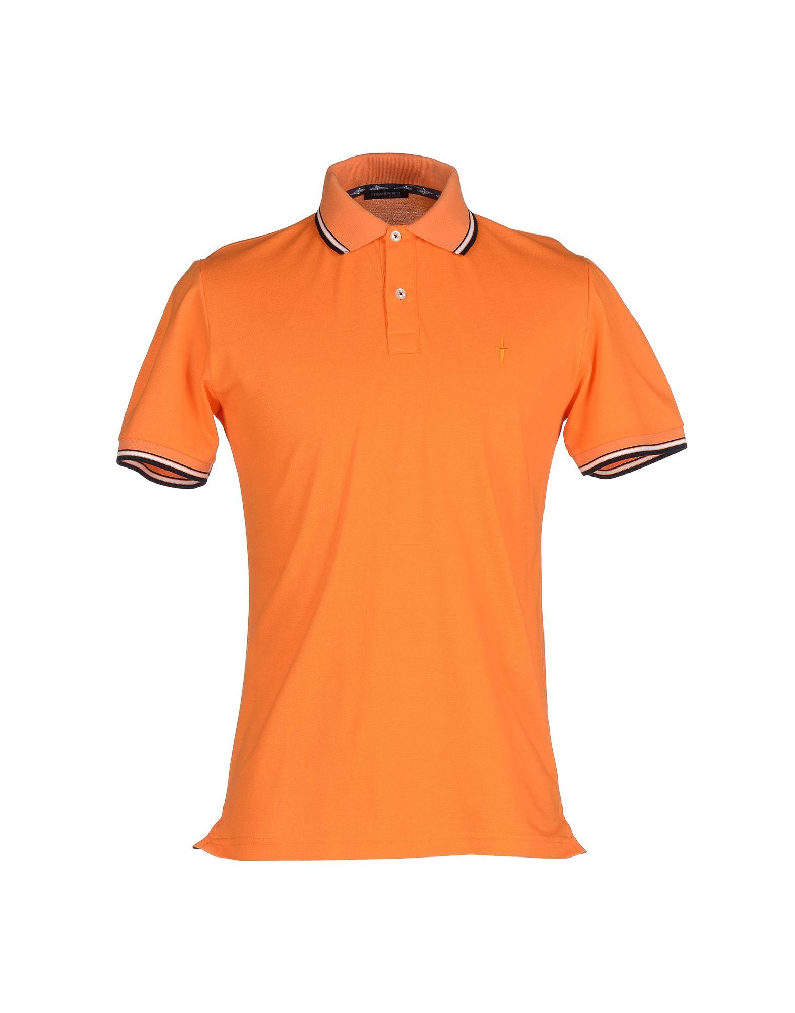 Cesare paciotti polo shirt in orange for men save 63 lyst for Orange polo shirt mens