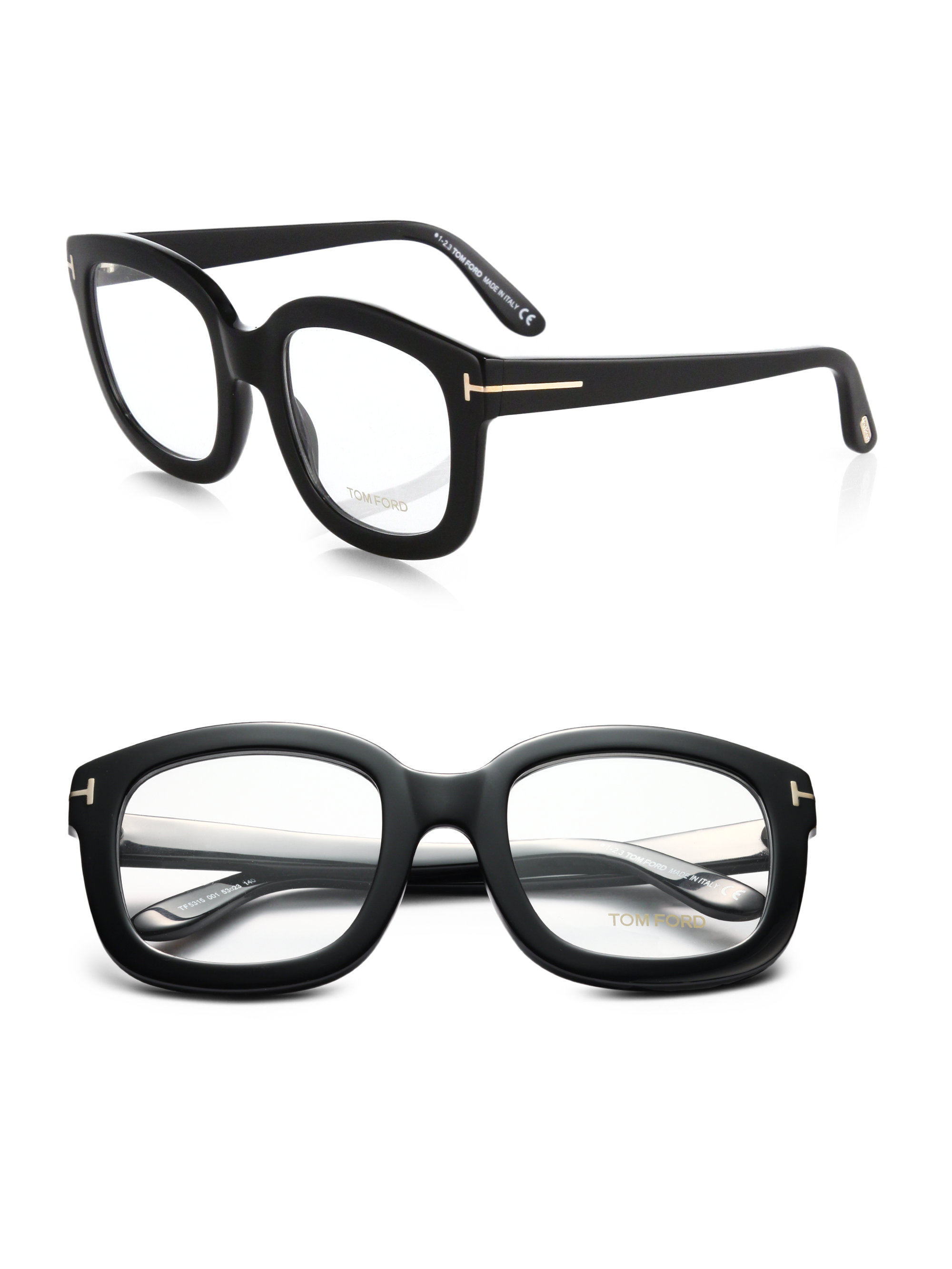 pin men accents lenses with tom ford brown square s gold eyeglasses logo and hardware tone