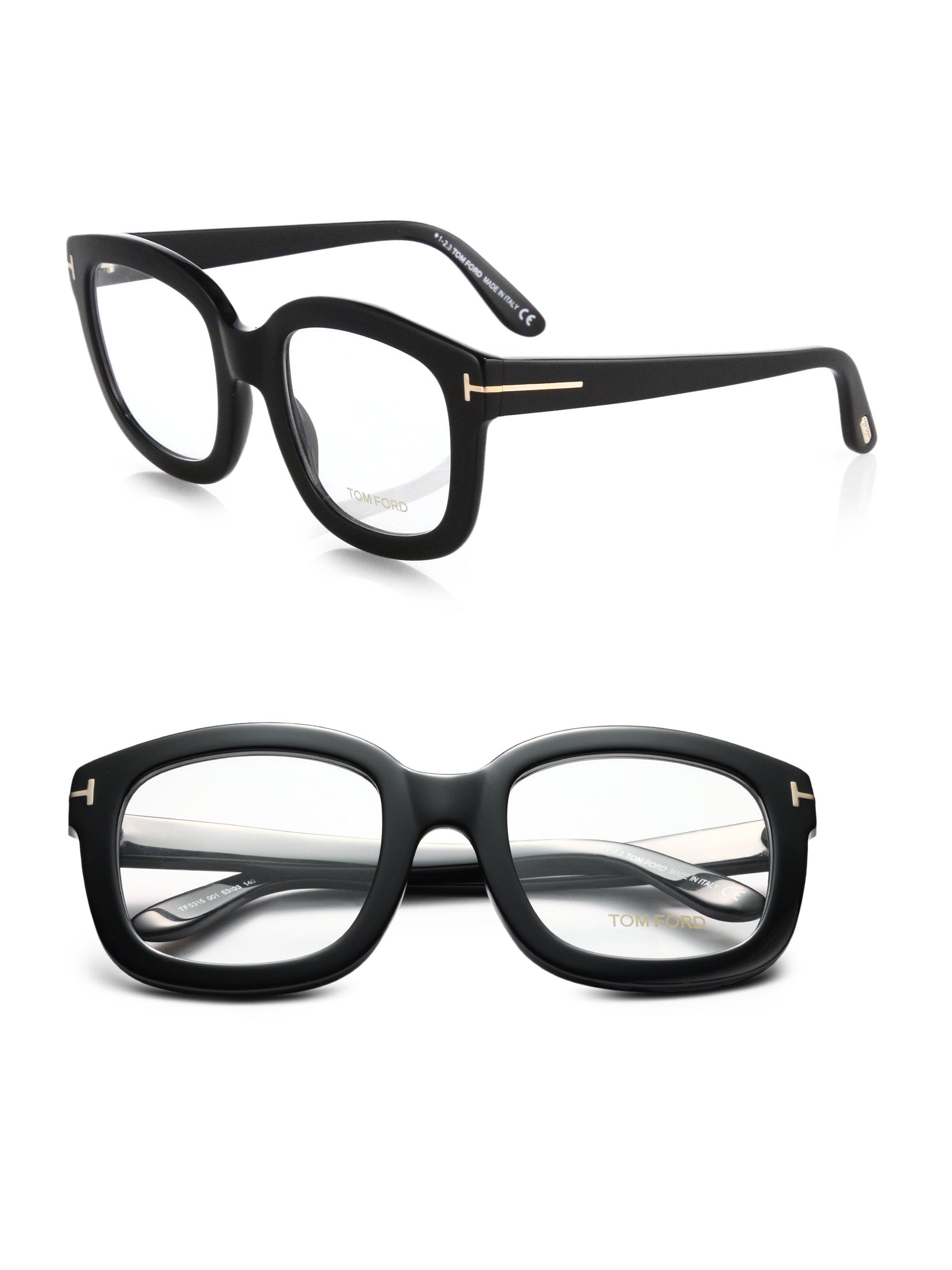 dedbbcaa2f771 Tom Ford Oversized Acetate Eye Glasses in Black - Lyst