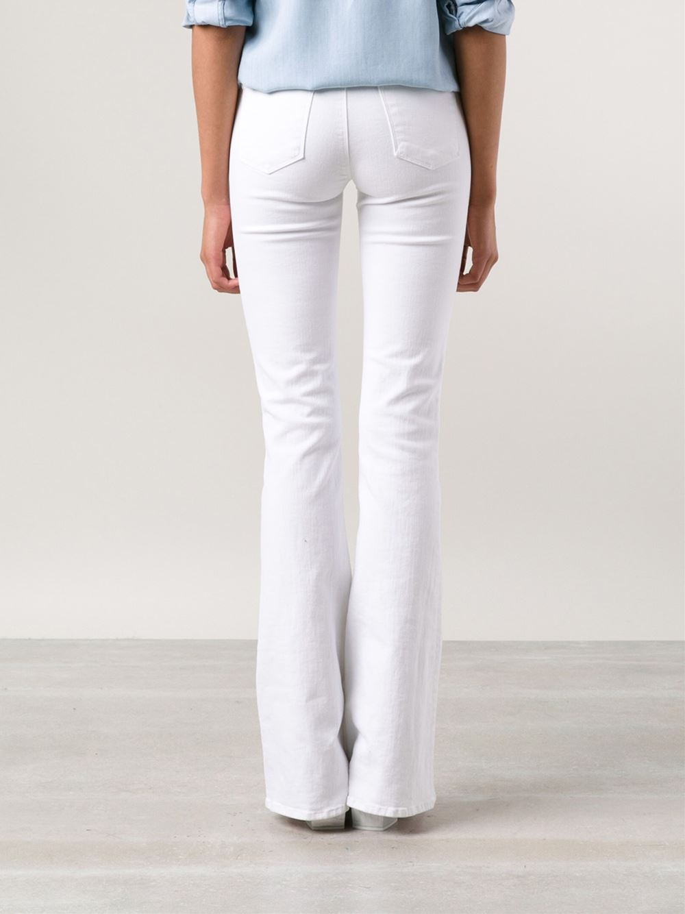 J brand 'Martini' Flare Jeans in White | Lyst
