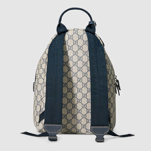 ed103d53f970 Lyst - Gucci Children s Gg Supreme Backpack in Natural