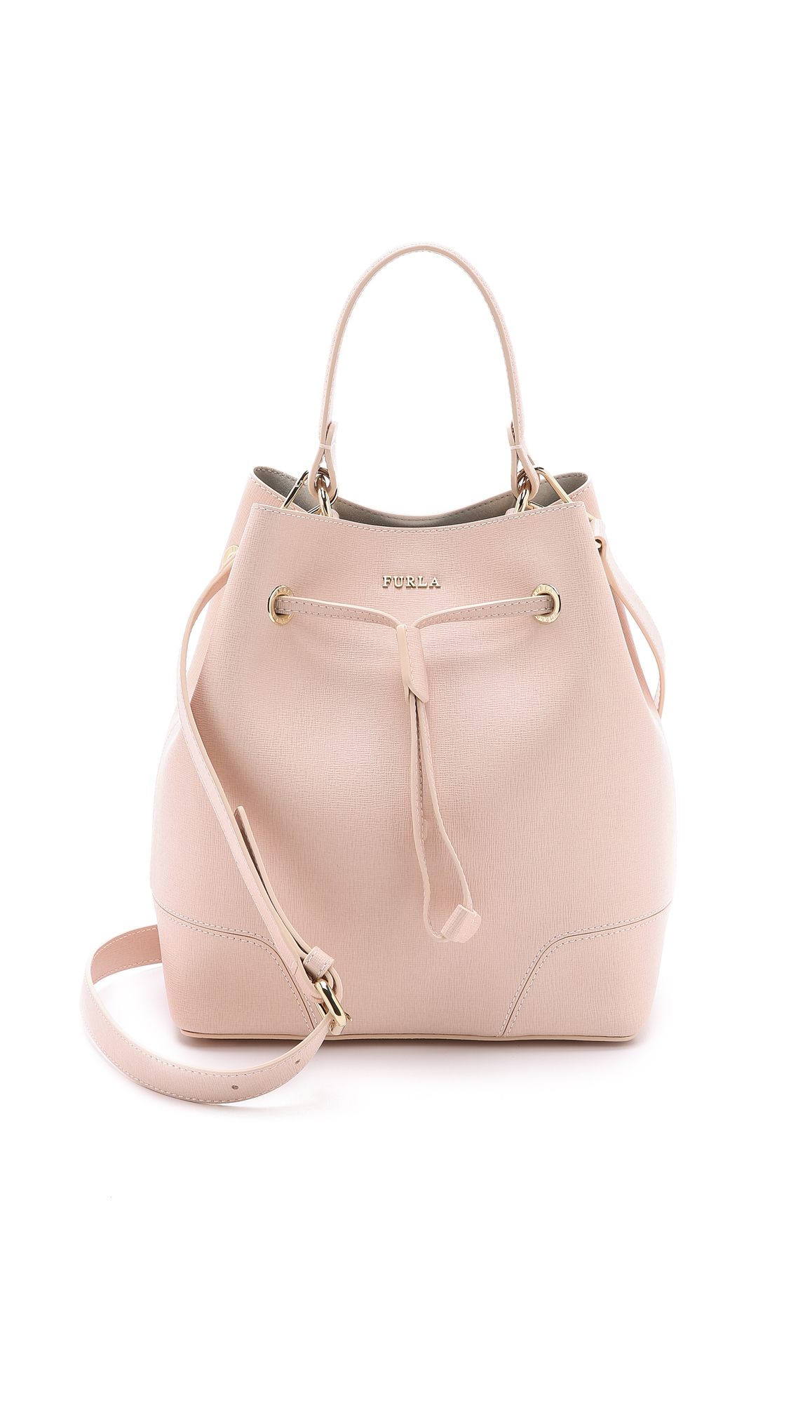 Furla Stacy Drawstring Bucket Bag - Pale Pink in Pink | Lyst