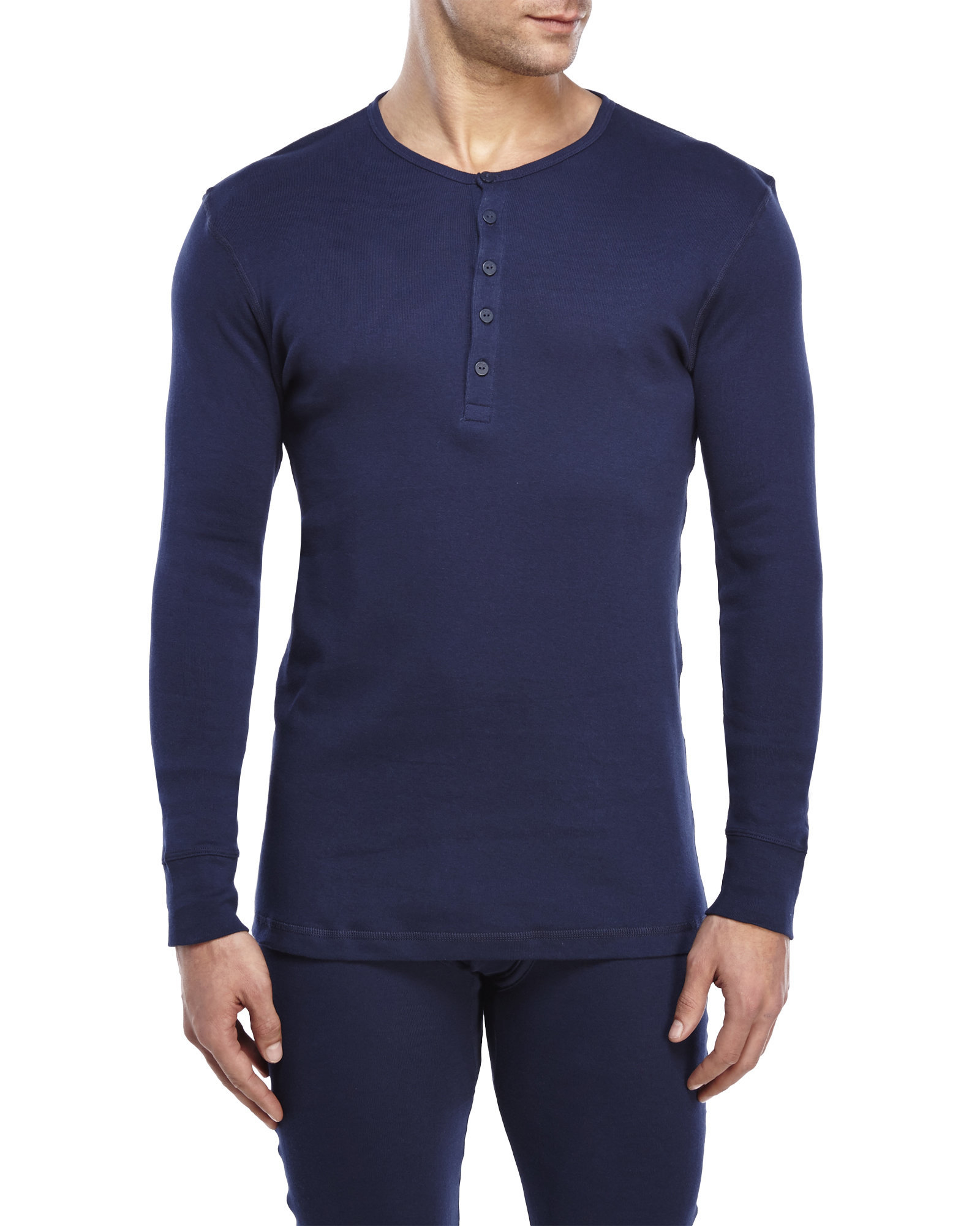 4c95ab01 2xist Thermal Long Sleeve Henley in Blue for Men - Lyst