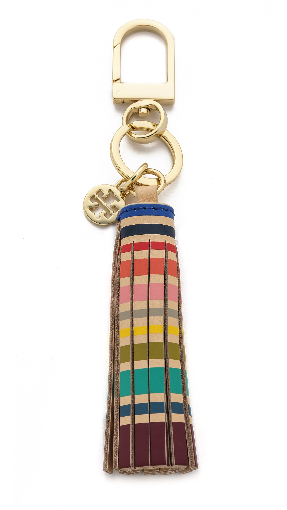 Lyst - Tory Burch Multi Color Tassel Key Chain - Vachetta