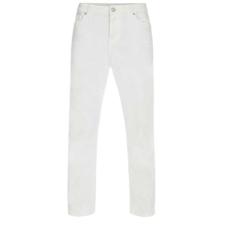 Paul smith Women's Off-white Denim Jeans in White | Lyst