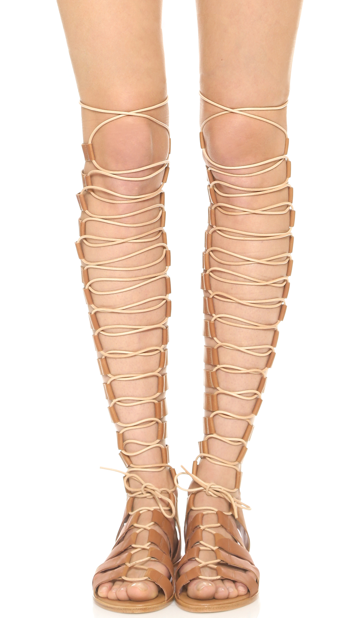 Beige Gladiator Heels - Is Heel