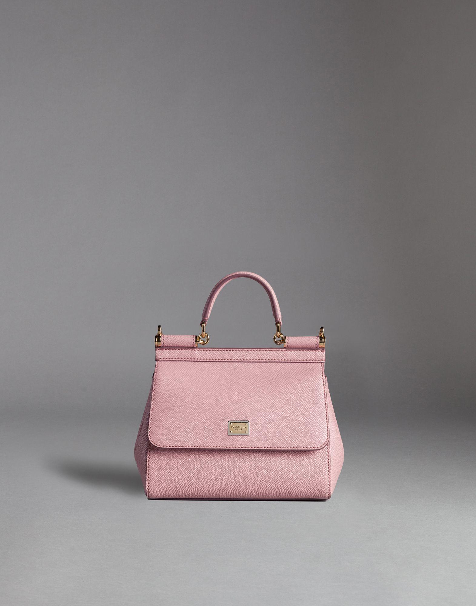 Lyst - Dolce   Gabbana Sicily Mini Dauphine-Print Shoulder Bag in Pink 37eaf5f5803b5