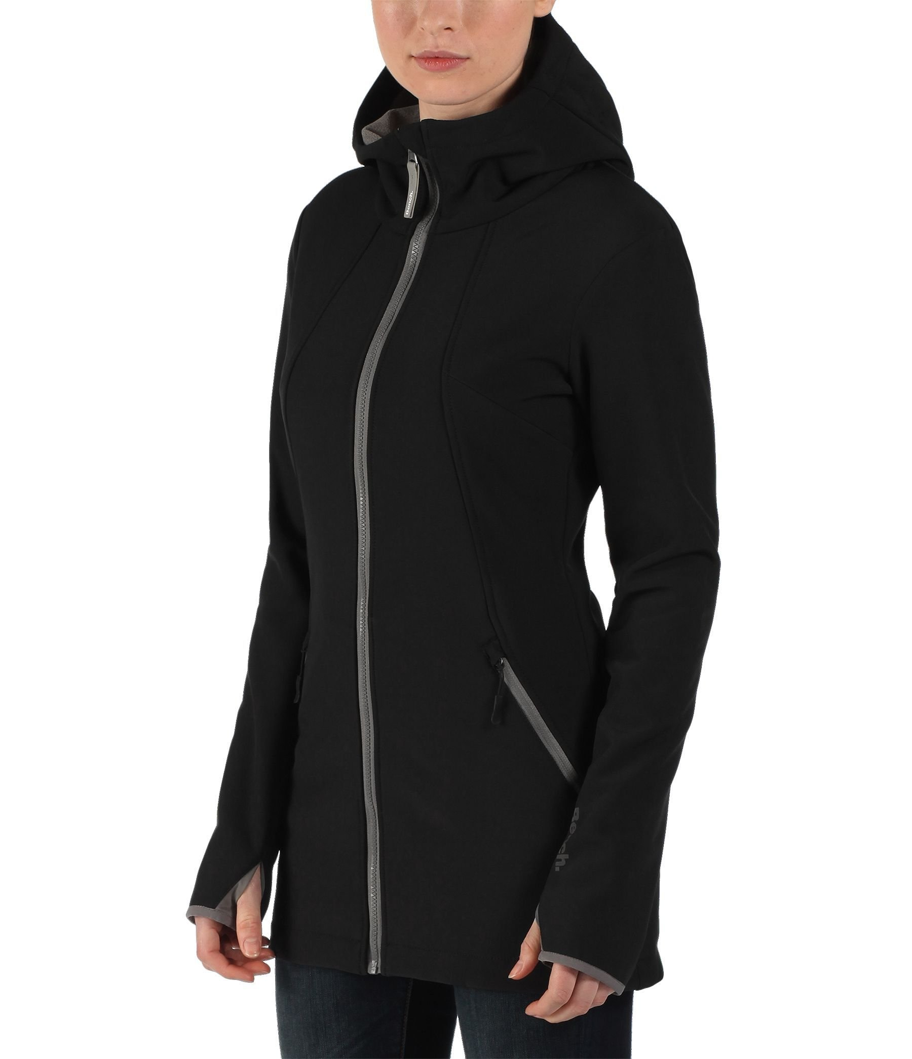 Bench denney hooded softshell jacket in black lyst Bench jacket