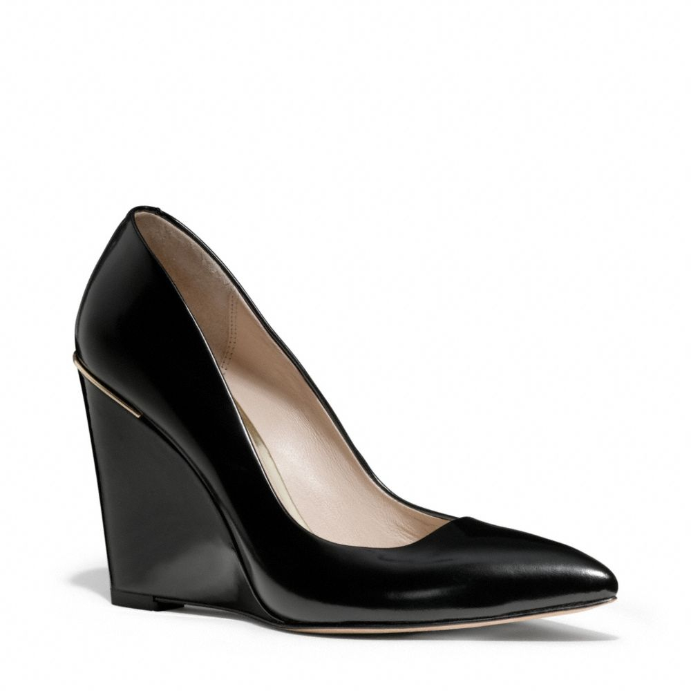 Coach Orchard Wedge In Black Lyst