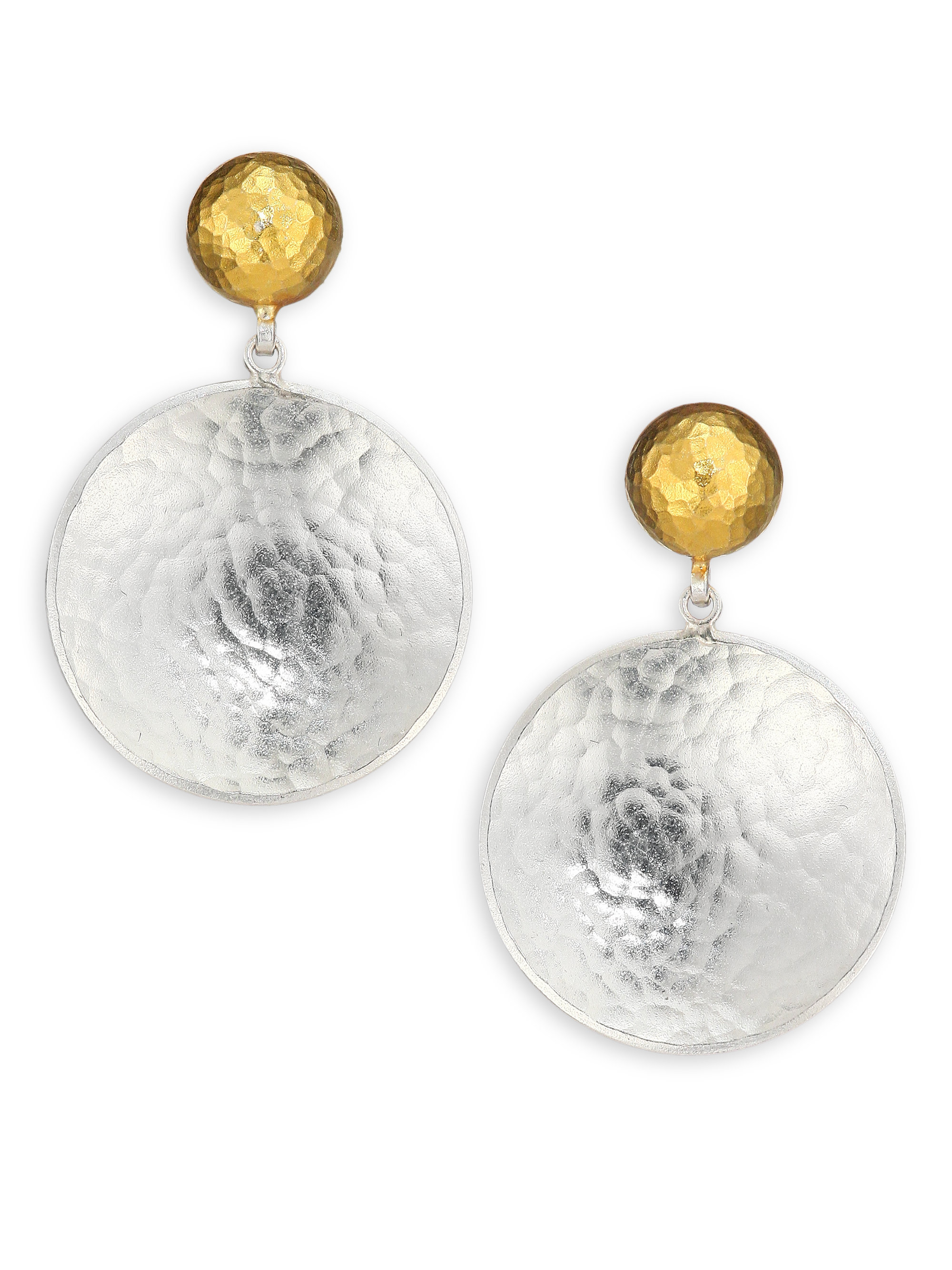 Lyst Gurhan Hourglass 24k Yellow Gold Amp Sterling Silver