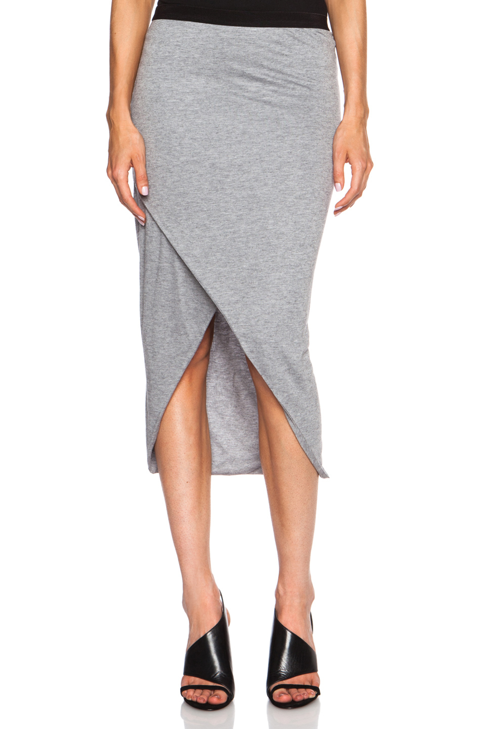 Iro Germany Viscose Blend Skirt In Gray Lyst