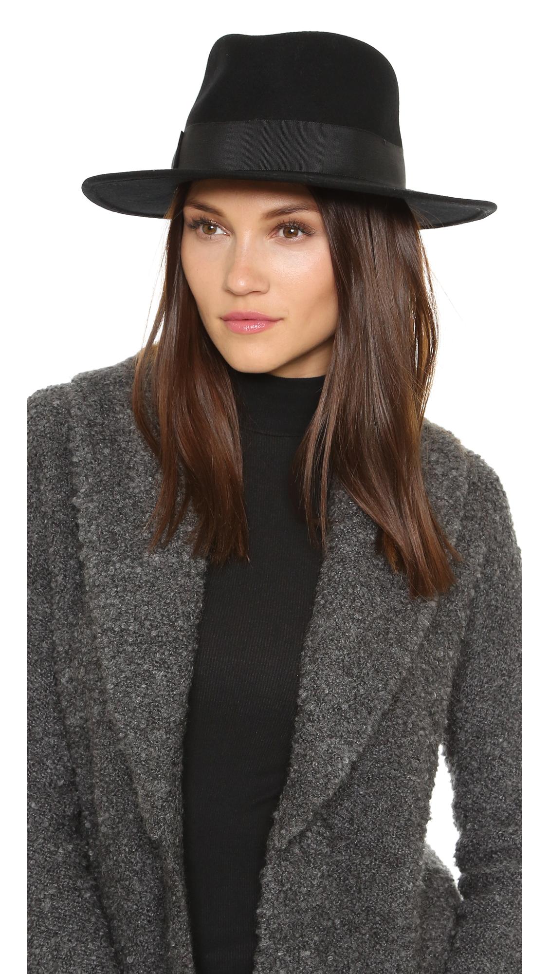 Lyst Hat Attack High Crown Felt Fedora Black In Black
