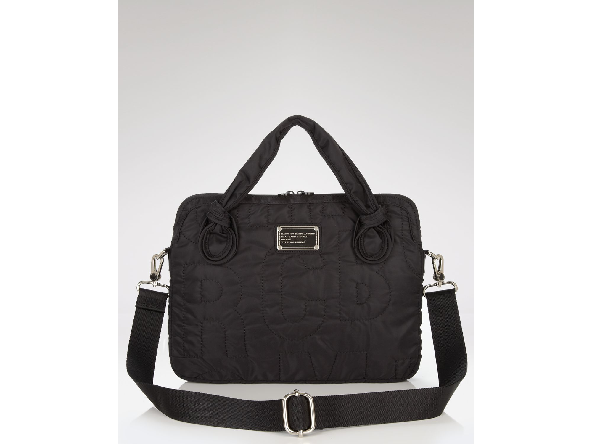 lyst marc by marc jacobs pretty nylon 13 laptop commuter case in black. Black Bedroom Furniture Sets. Home Design Ideas