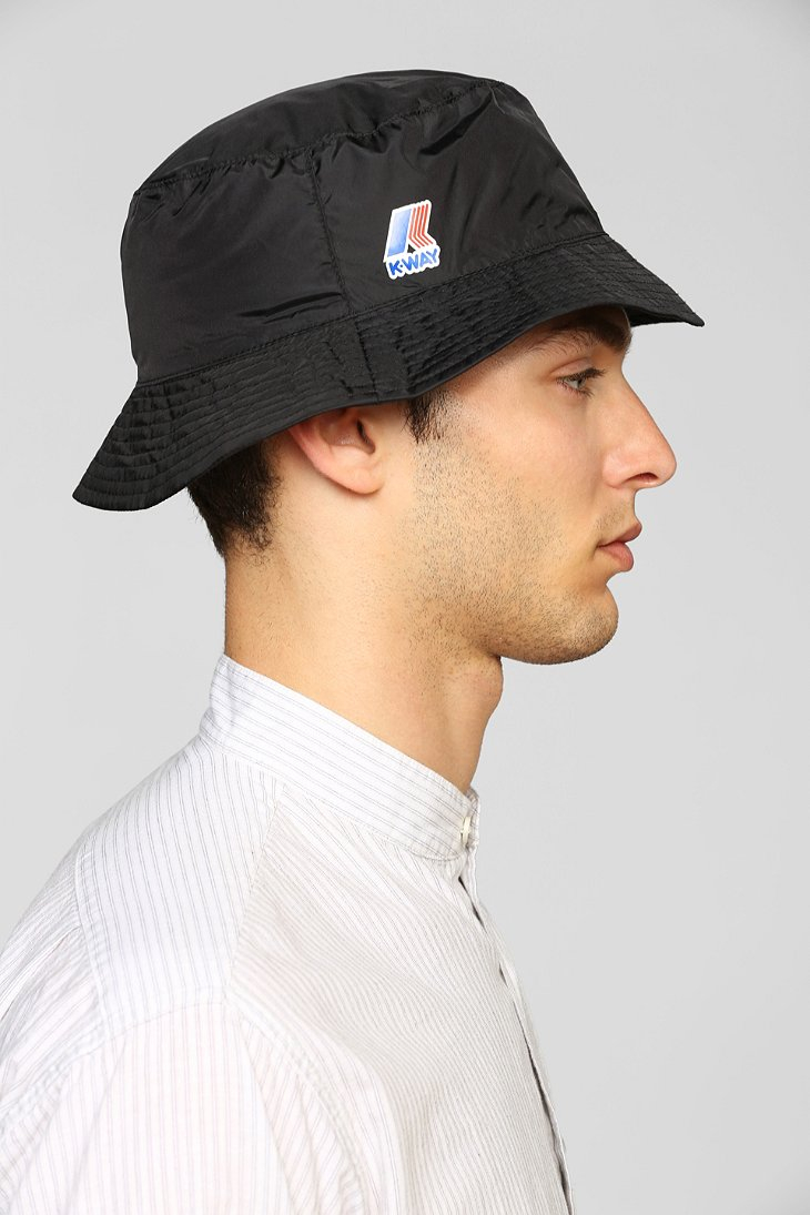 Lyst - Urban Outfitters K-Way Packable Bucket Hat in Black for Men 49e9767c9d5