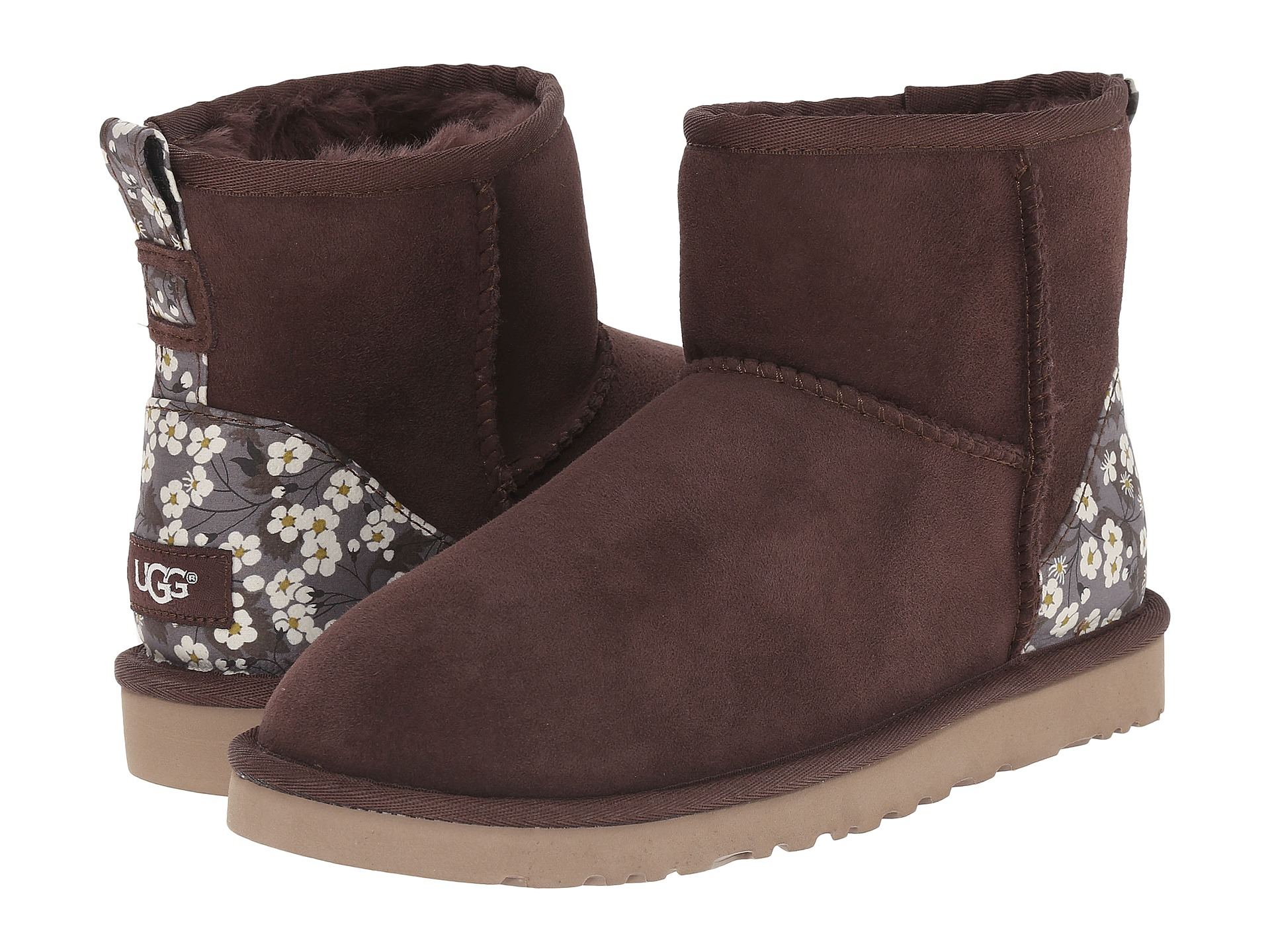 UGG Boots Womens - UGG Classic Mini Liberty Brown