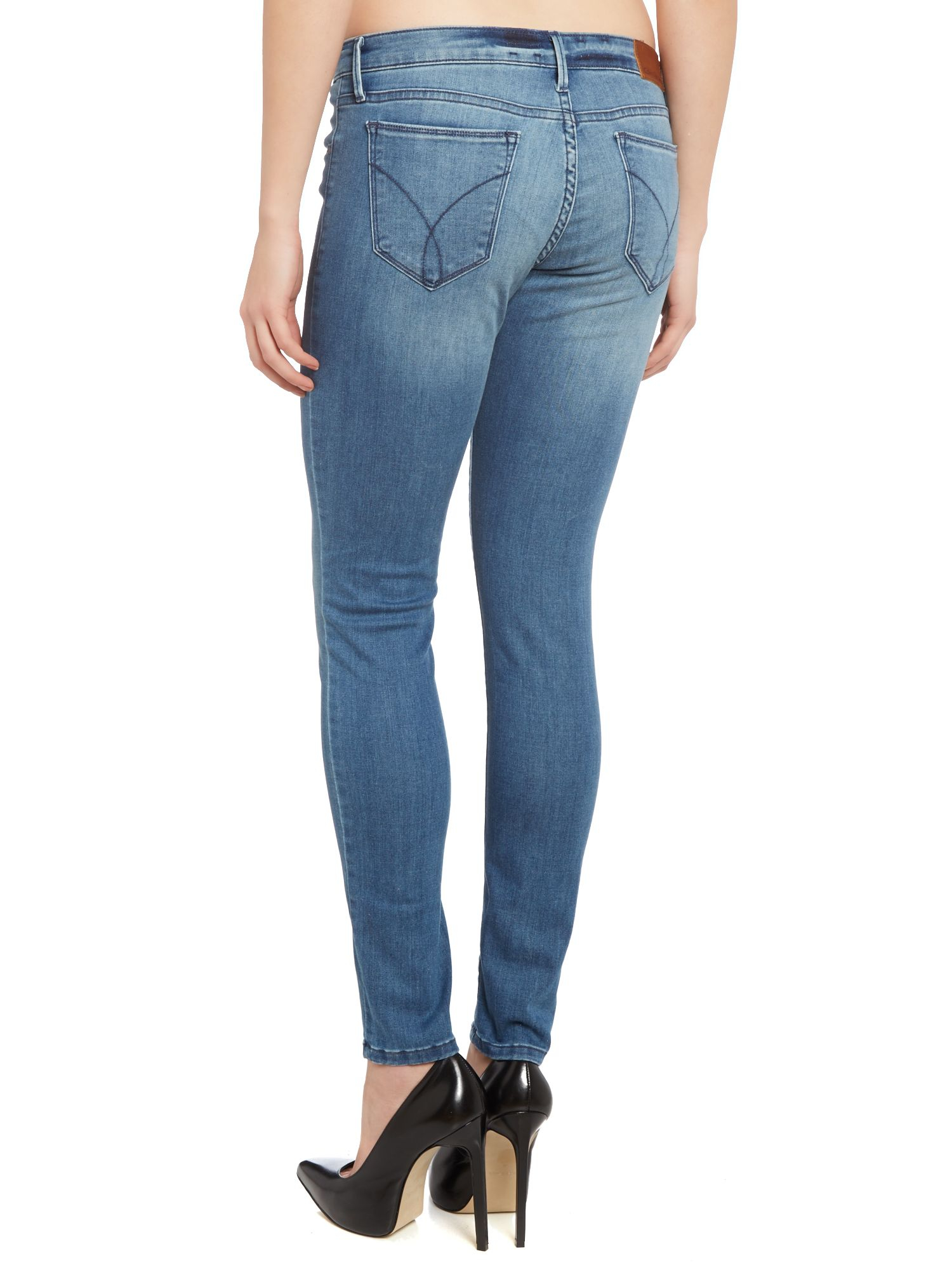 mid rise skinny jeans - Blue Calvin Klein Jeans jWlXVyAzhS