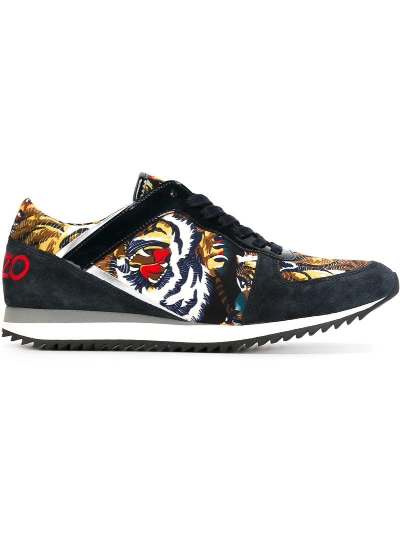 Lyst - Kenzo 'k-run' Flying Tiger Sneakers in Blue for Men