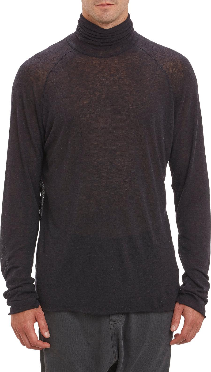 haider ackermann turtleneck pullover sweater in black for. Black Bedroom Furniture Sets. Home Design Ideas
