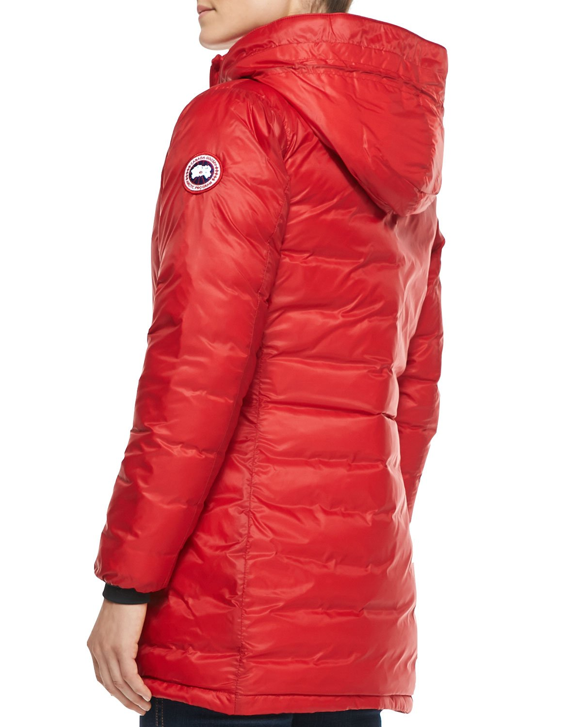 Lyst - Canada Goose Camp Hooded Mid-Length Puffer Coat in Red 1bde8e6a5