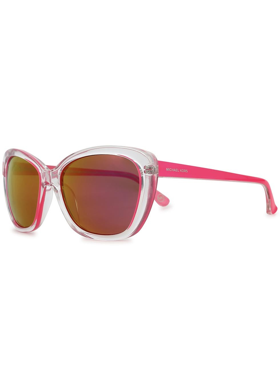 8a454a2cba49e Michael Kors Sabrina Cat Eye Acetate Sunglasses in Pink - Lyst