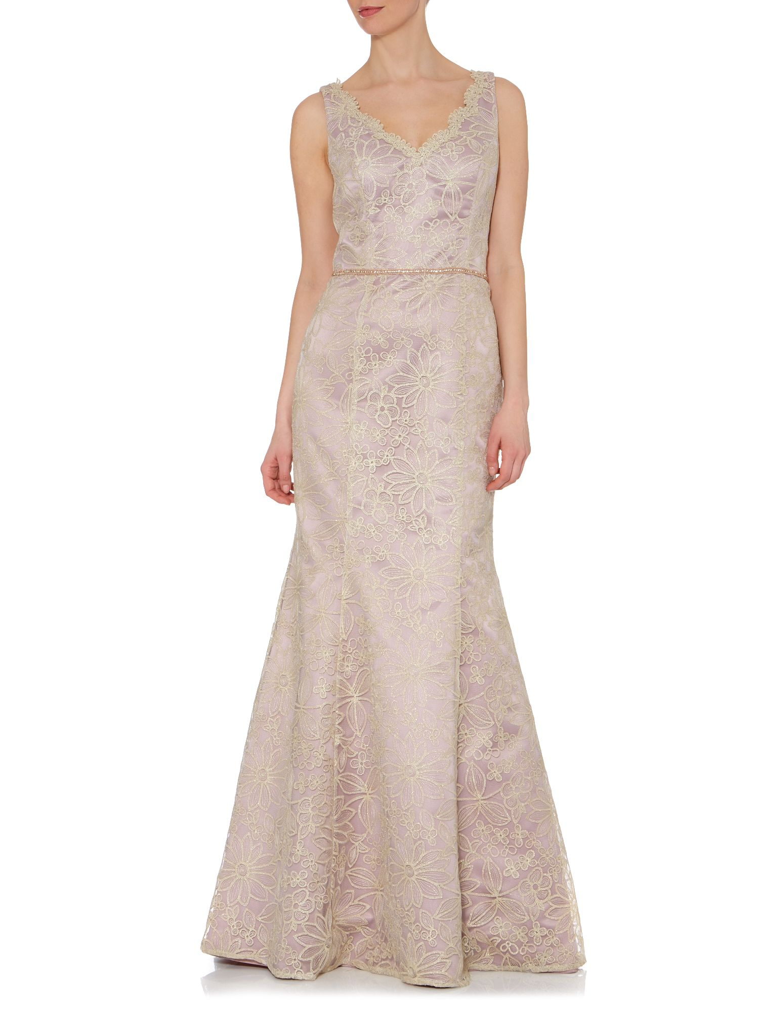 Js collections Daisy Lace Evening Dress in Purple - Lyst