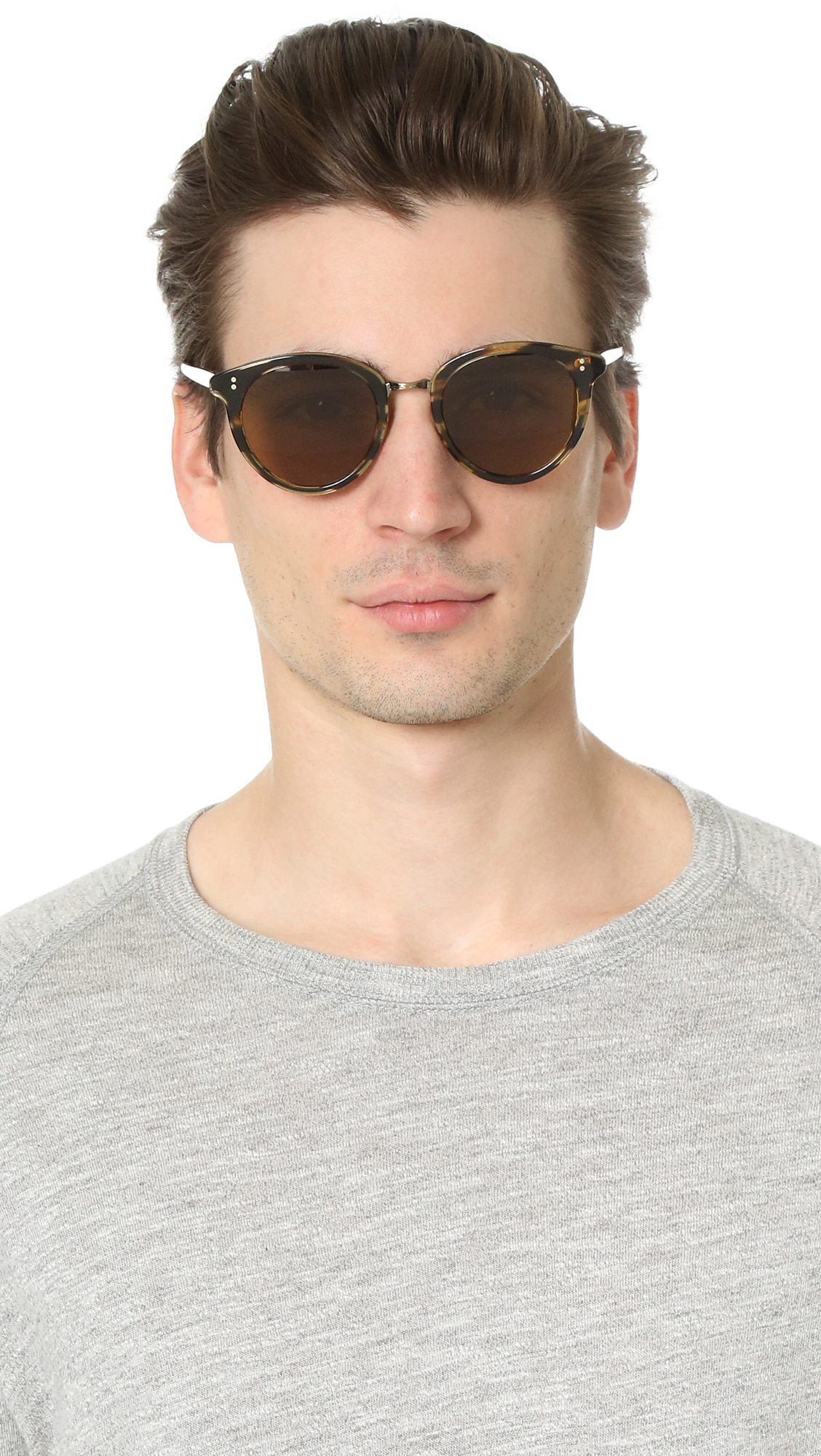 Lyst Oliver Peoples Spelman Sunglasses In Brown For Men