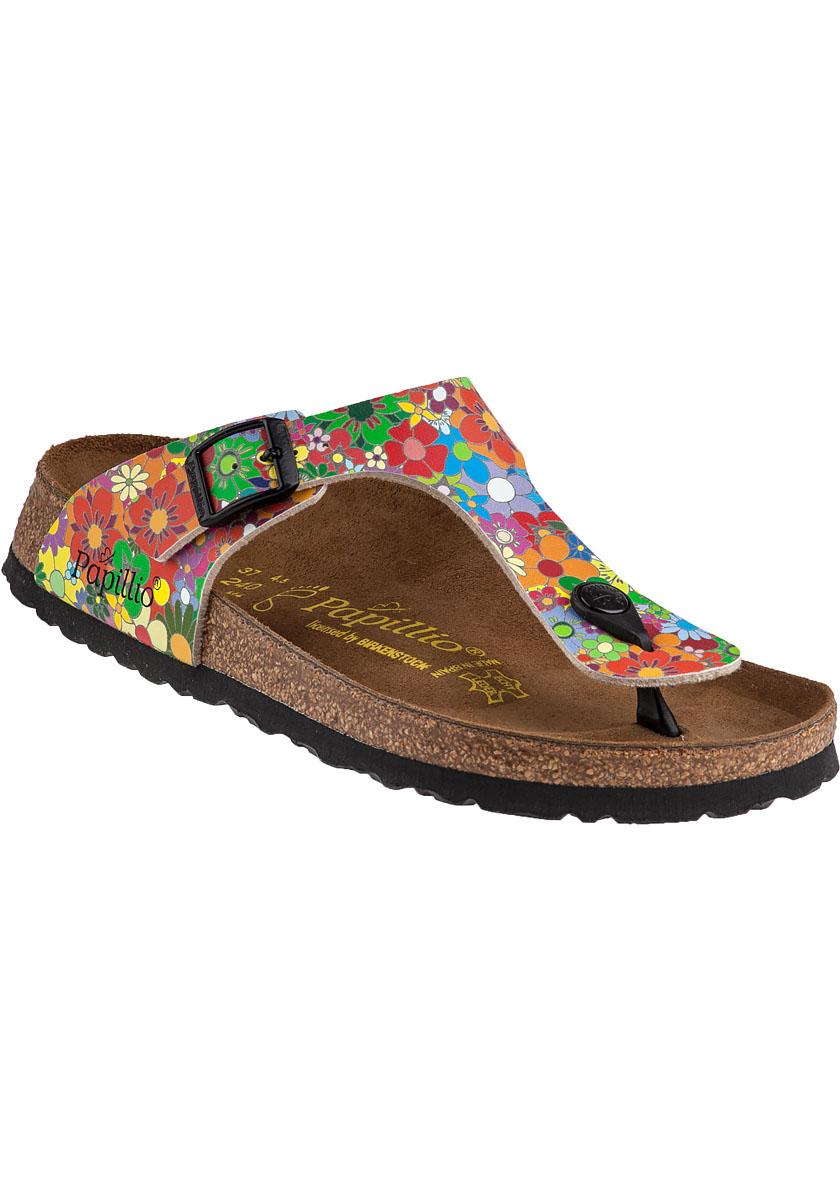 lyst birkenstock gizeh sandal hippie flower birko flor. Black Bedroom Furniture Sets. Home Design Ideas