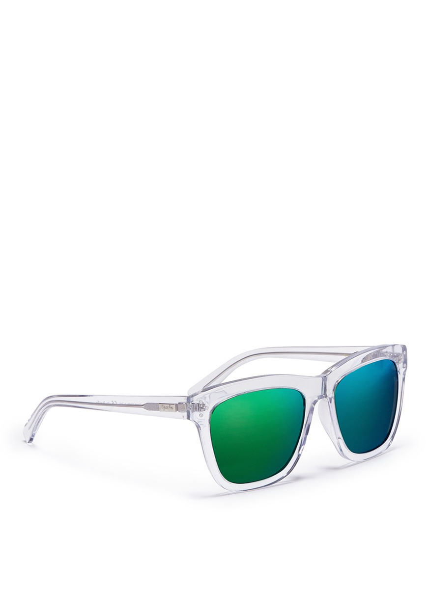 03f7a24901f Lyst - Spektre  milano  Clear Acetate Mirror Sunglasses in Green