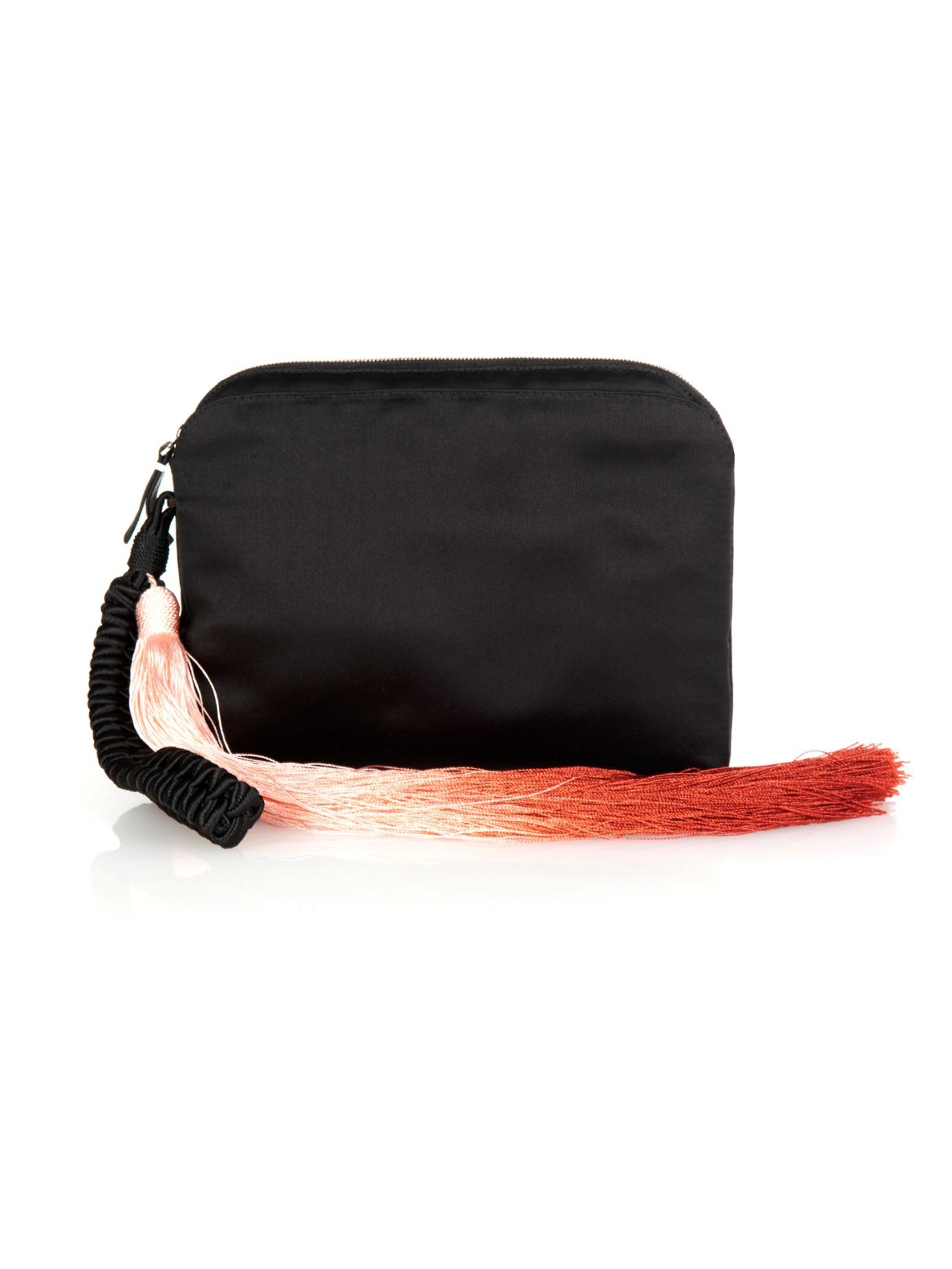 The Row Satin Tassel Wristlet Clutch Bag xVeI9R2