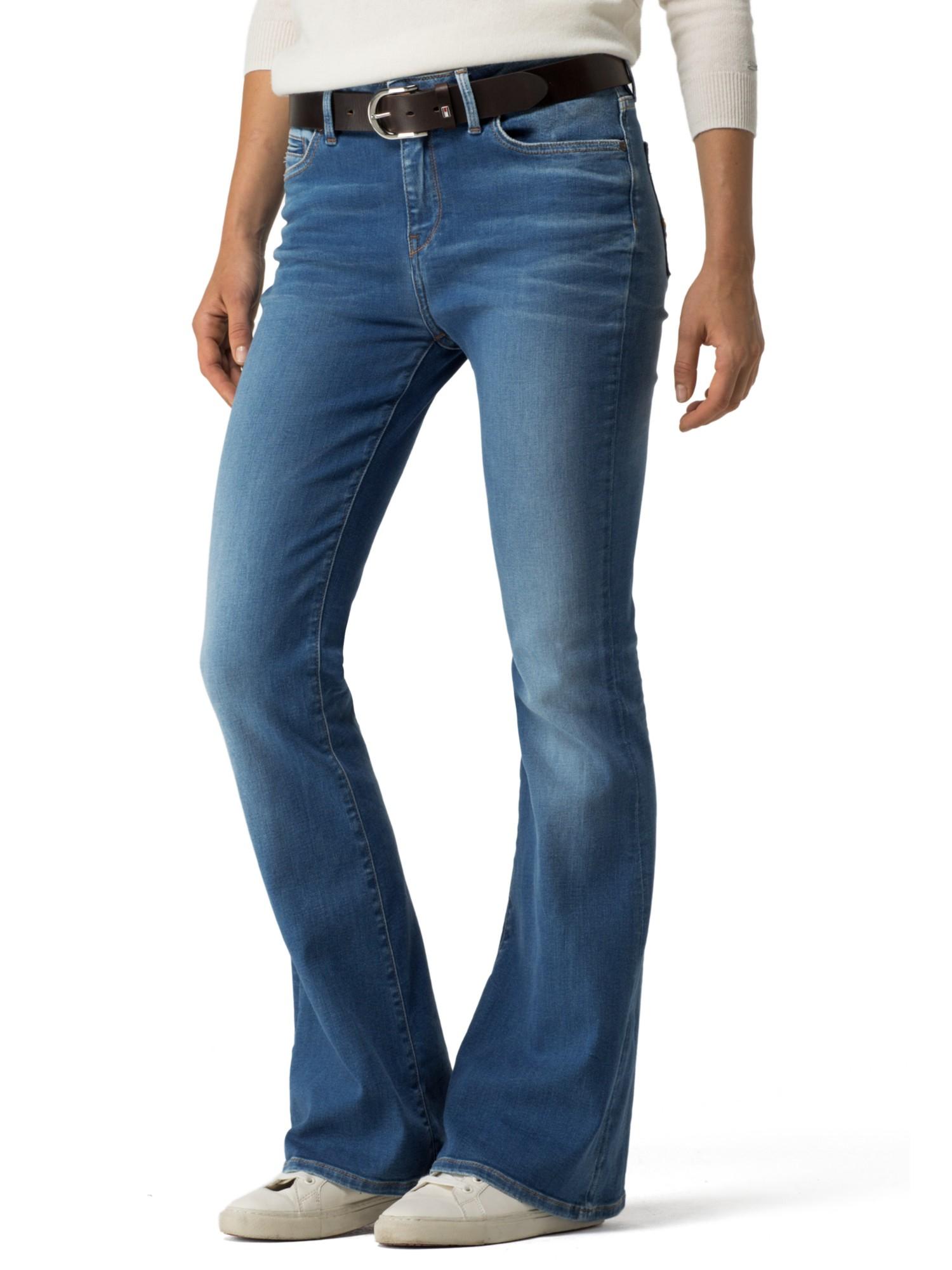 tommy hilfiger paris bootcut jeans in blue lyst. Black Bedroom Furniture Sets. Home Design Ideas