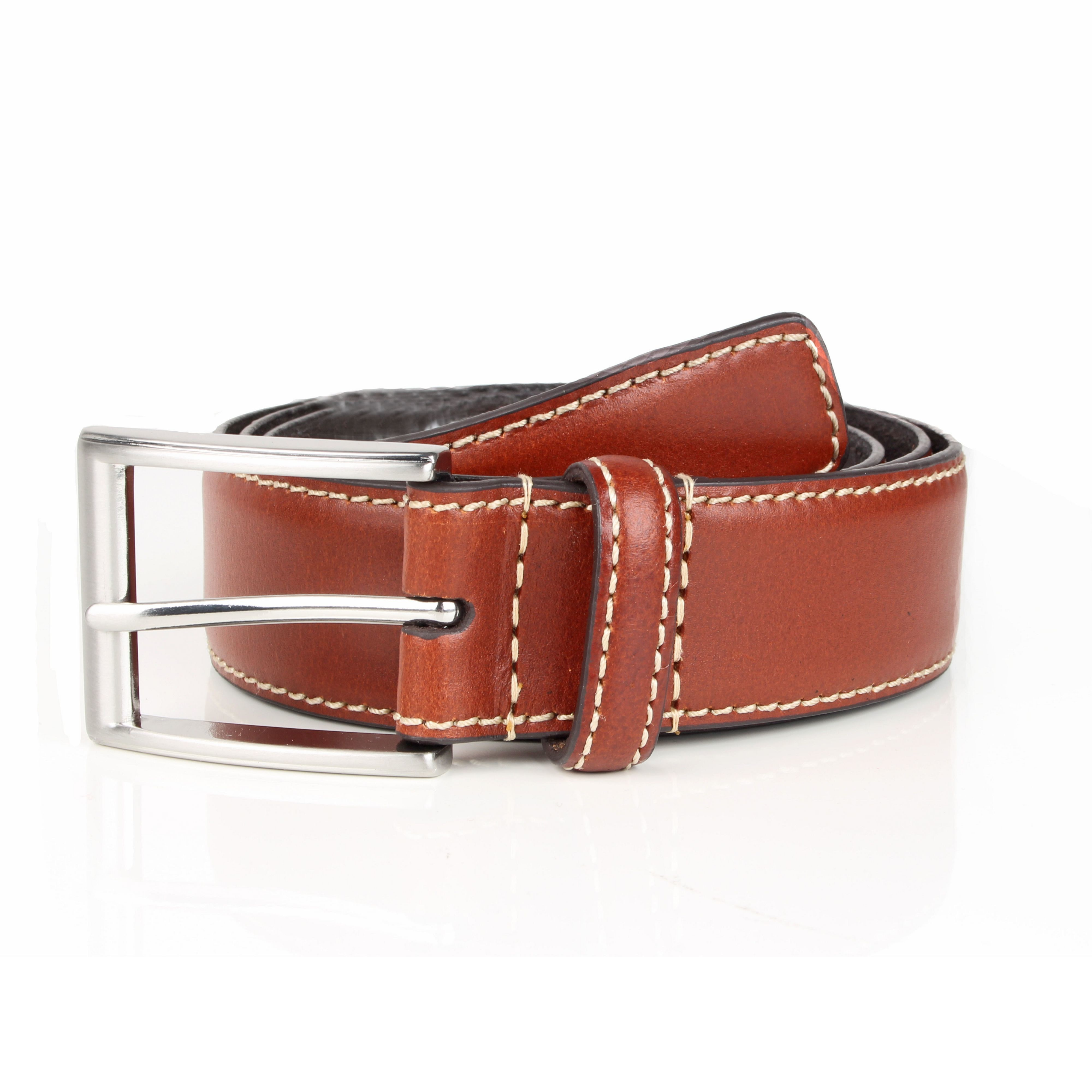dents mens leather belt in brown for lyst