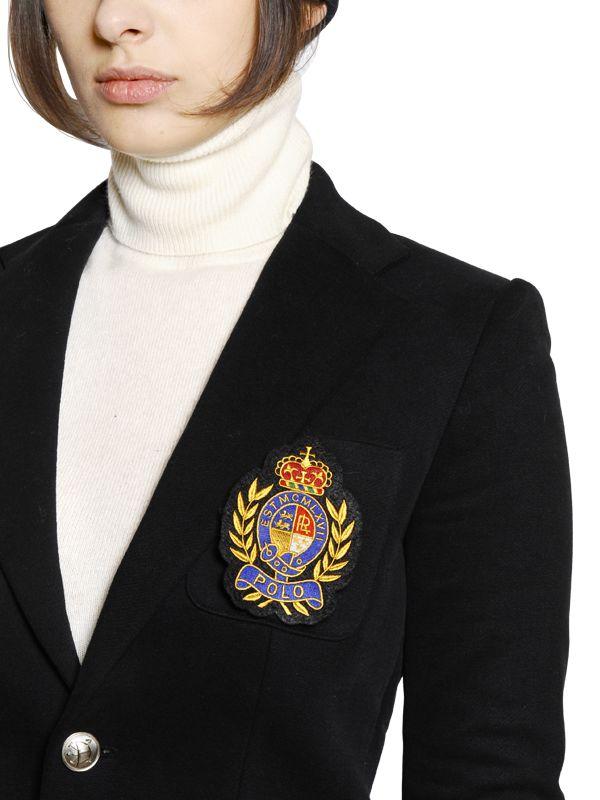 Polo Ralph Lauren Crest Appliqu 233 Cotton Jersey Jacket In