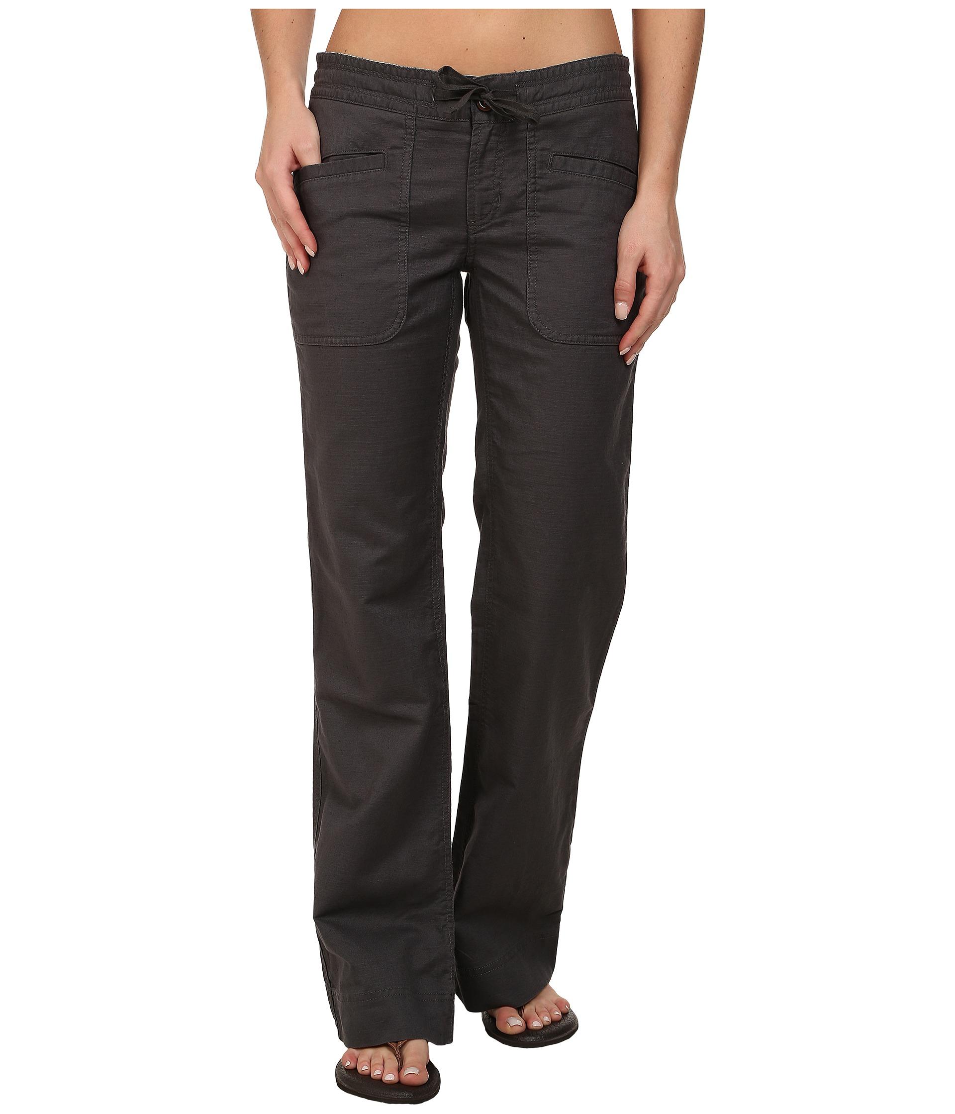 Unique Allen Allen Linen Crop Pants In Gray (Dark Grey) | Lyst
