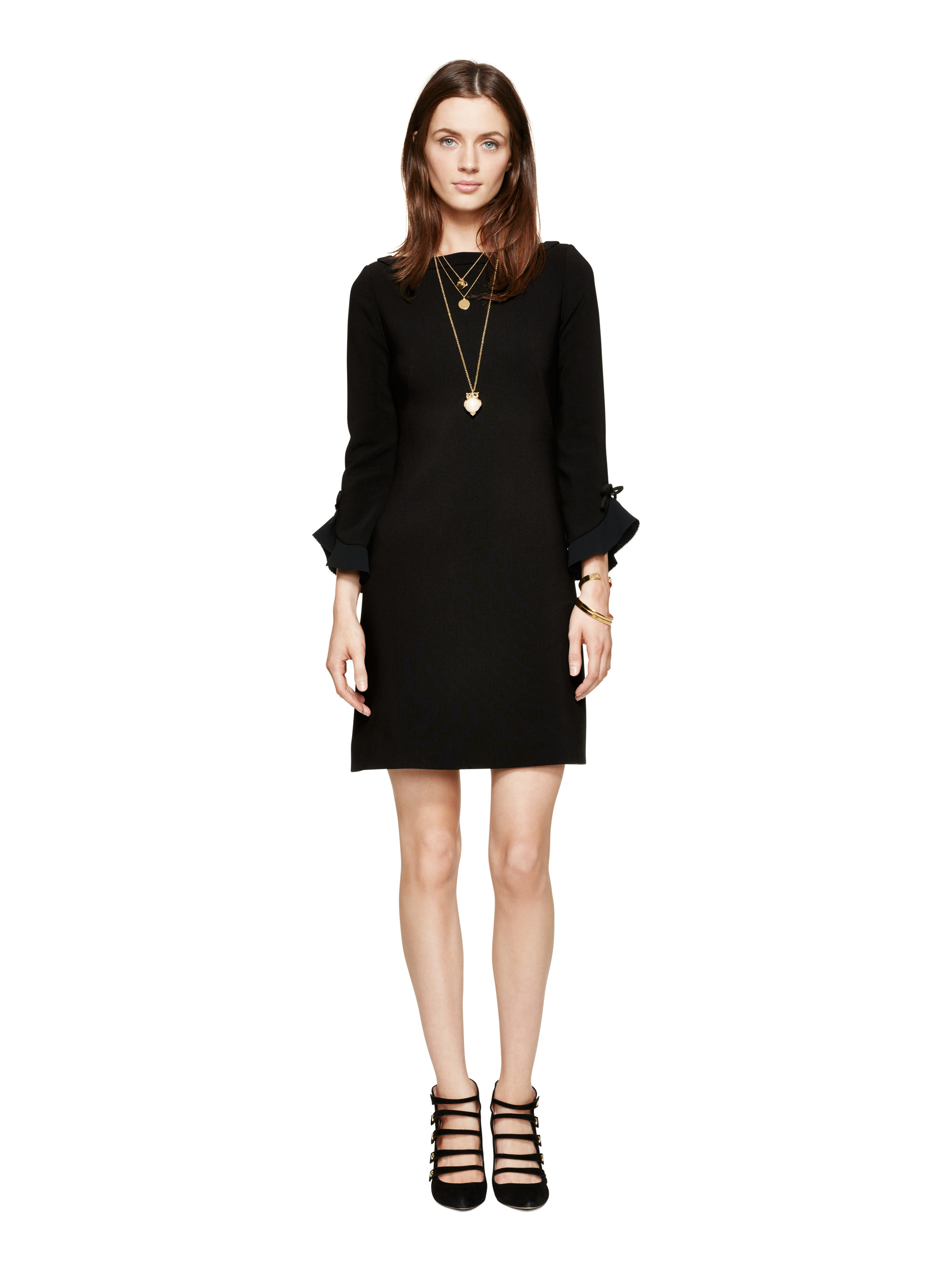 Lulus Exclusive! Beat the chilly month's slump with the Lulus Sweater Weather Black Ruffled Long Sleeve Sweater Dress! This lightweight knit dress is perfect for layering under a long trench and features a chic bodycon silhouette, a rounded neckline, and long, fitted sleeves with ruffled shoulder details.