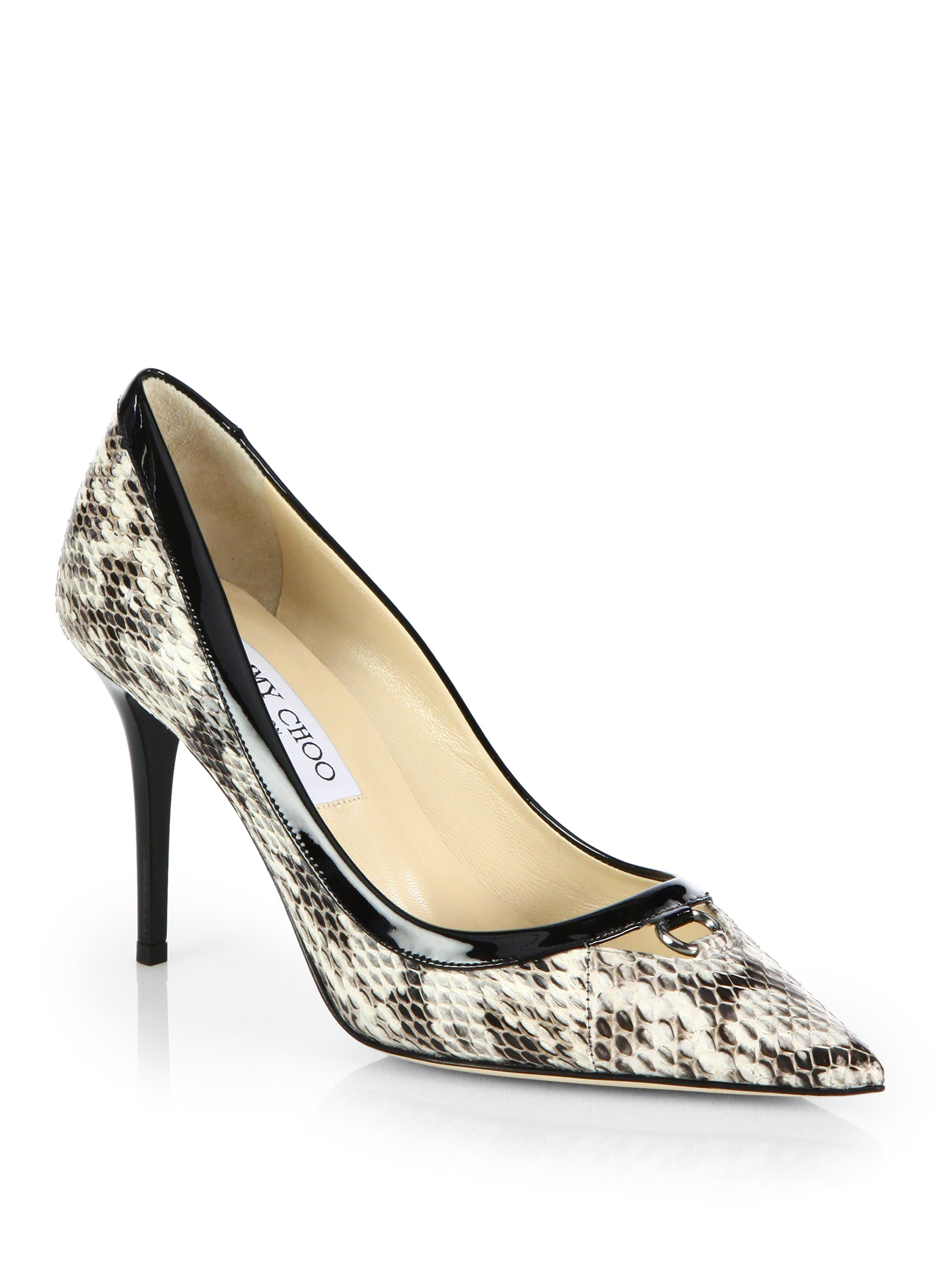 5b779a88f8e4 ... women 29c29 get lyst jimmy choo hype snakeskin patent leather point toe  pumps in ed5d2 2f3a4 ...