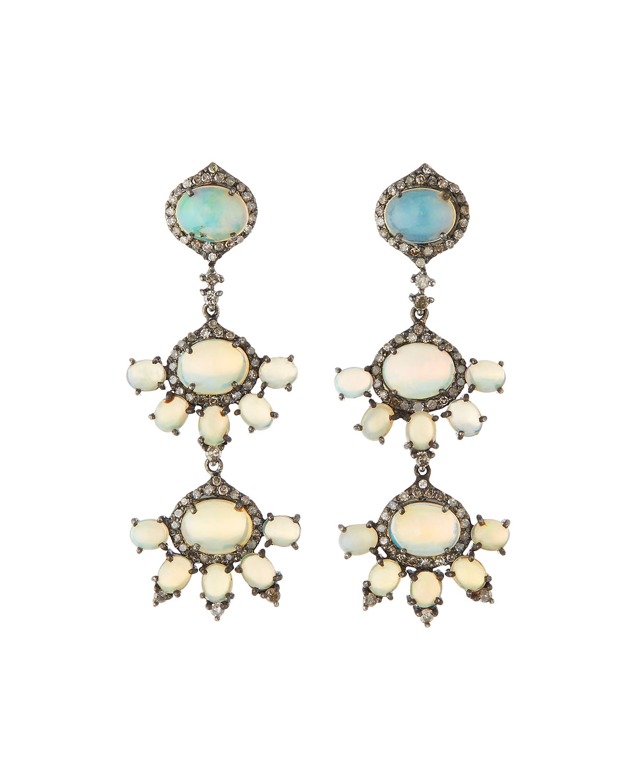 Bavna Opal & Diamond Pavé Teardrop Earrings uoh6H2