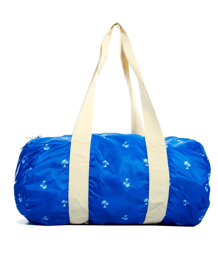 3430a4b7a343 Lyst - Herschel Supply Co. Packable Duffle Bag in Blue for Men