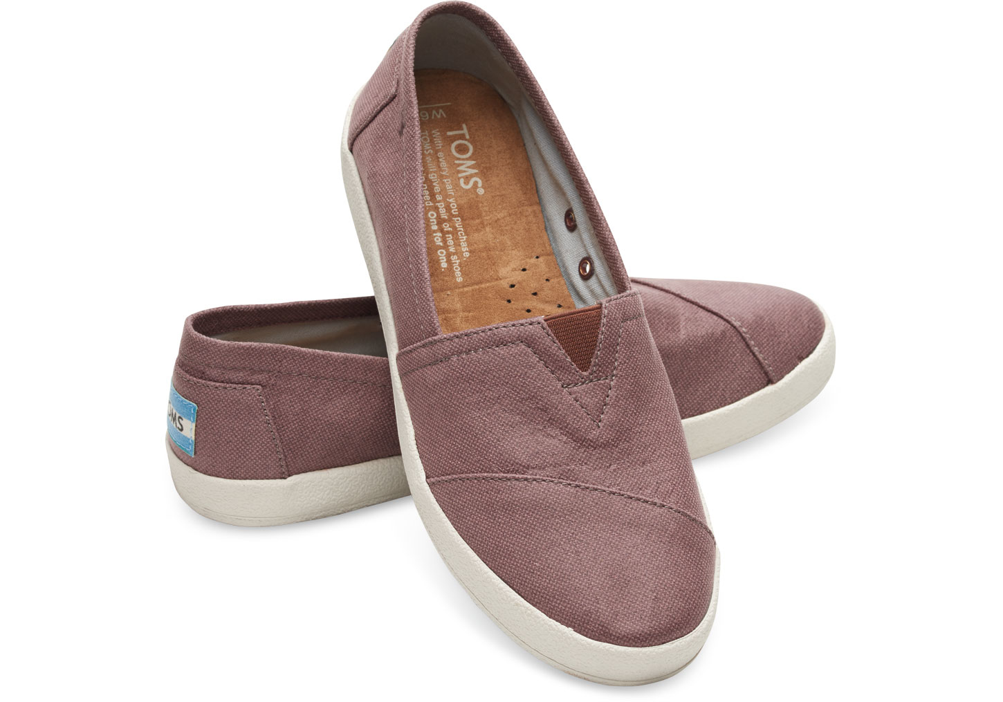 411ad9b128f TOMS Mauve Coated Canvas Women s Avalon Slip-ons in Purple - Lyst
