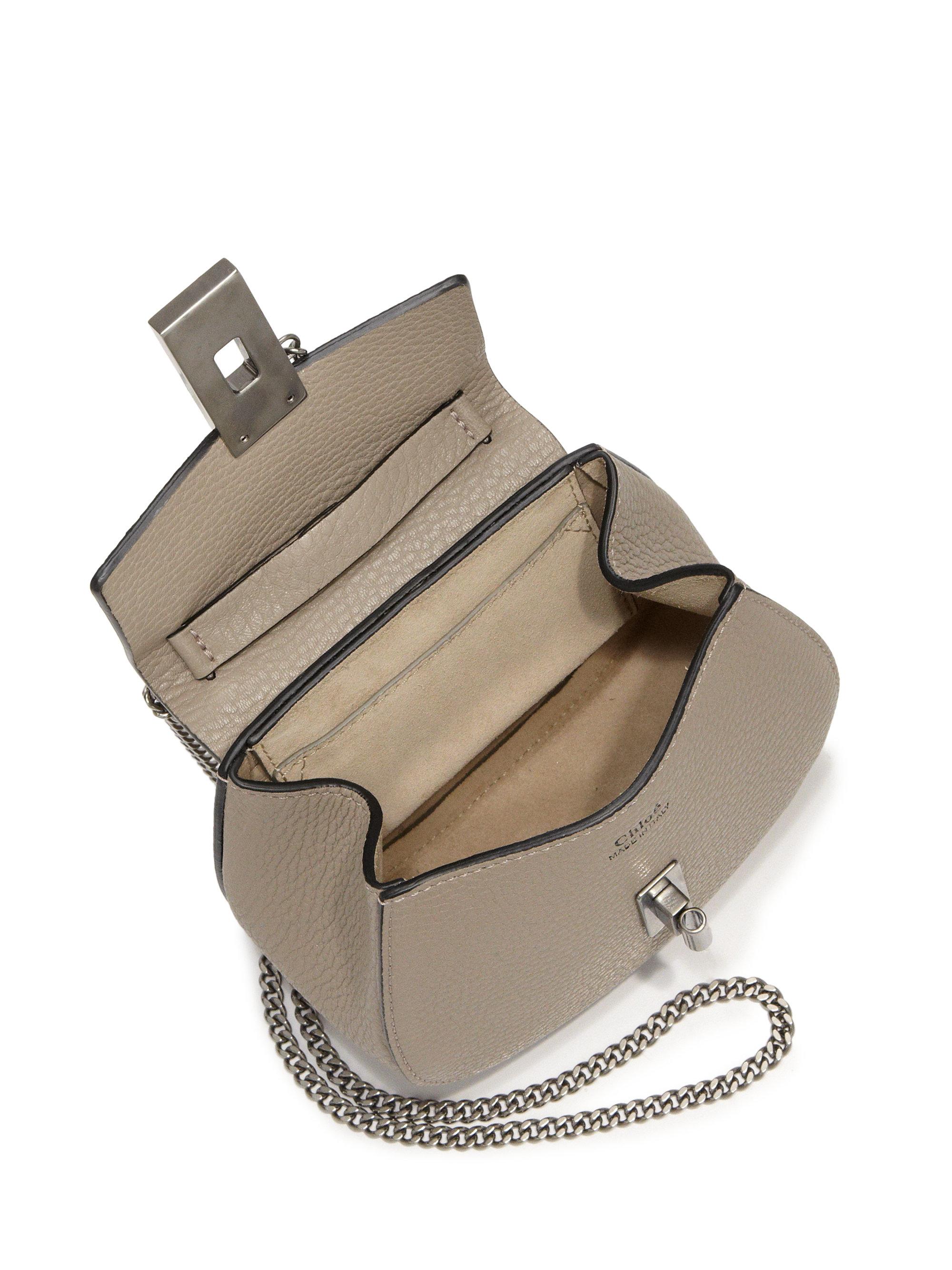 chloe replica shoes - chloe drew nano black textured leather bag