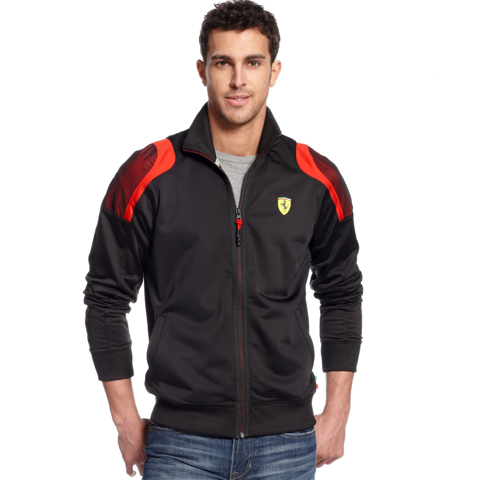Puma Men S Ferrari Track Jacket Cheaper Than Retail Price Buy Clothing Accessories And Lifestyle Products For Women Men
