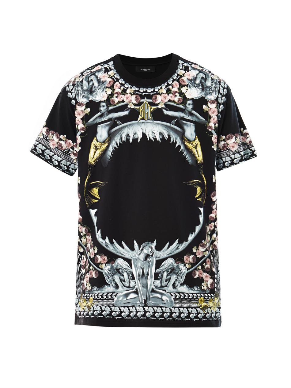 Lyst - Givenchy Shark and Mermaid Oversized Tshirt in Black for Men 6dbc2a549f