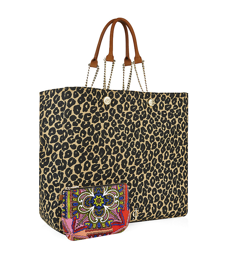 juicy couture leopard beach tote bag lyst. Black Bedroom Furniture Sets. Home Design Ideas