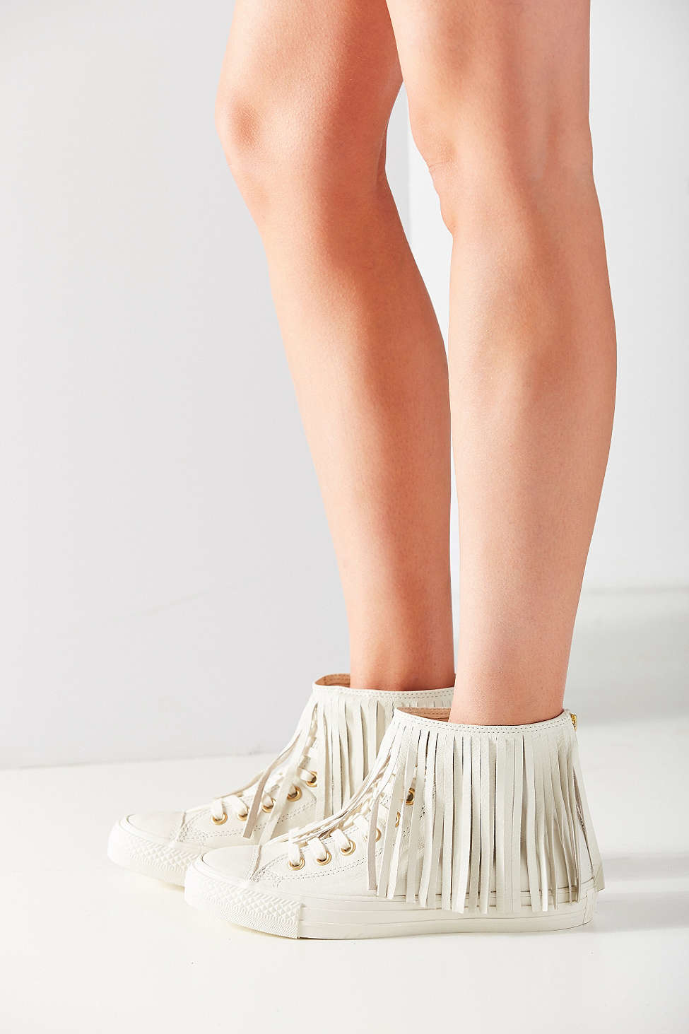 Converse Chuck Taylor All Star Fringe Sneaker In Natural