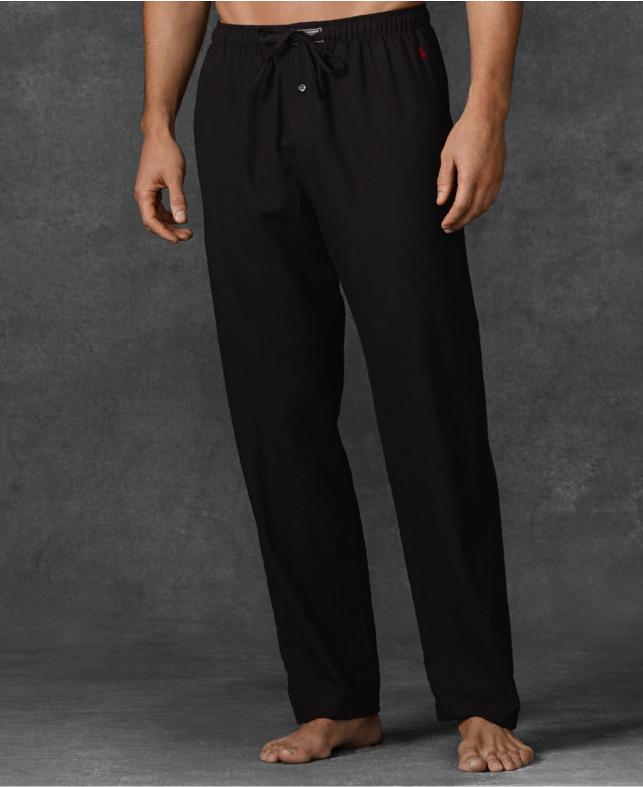 Polo ralph lauren Big And Tall Flannel Pajama Pants in Black for ...