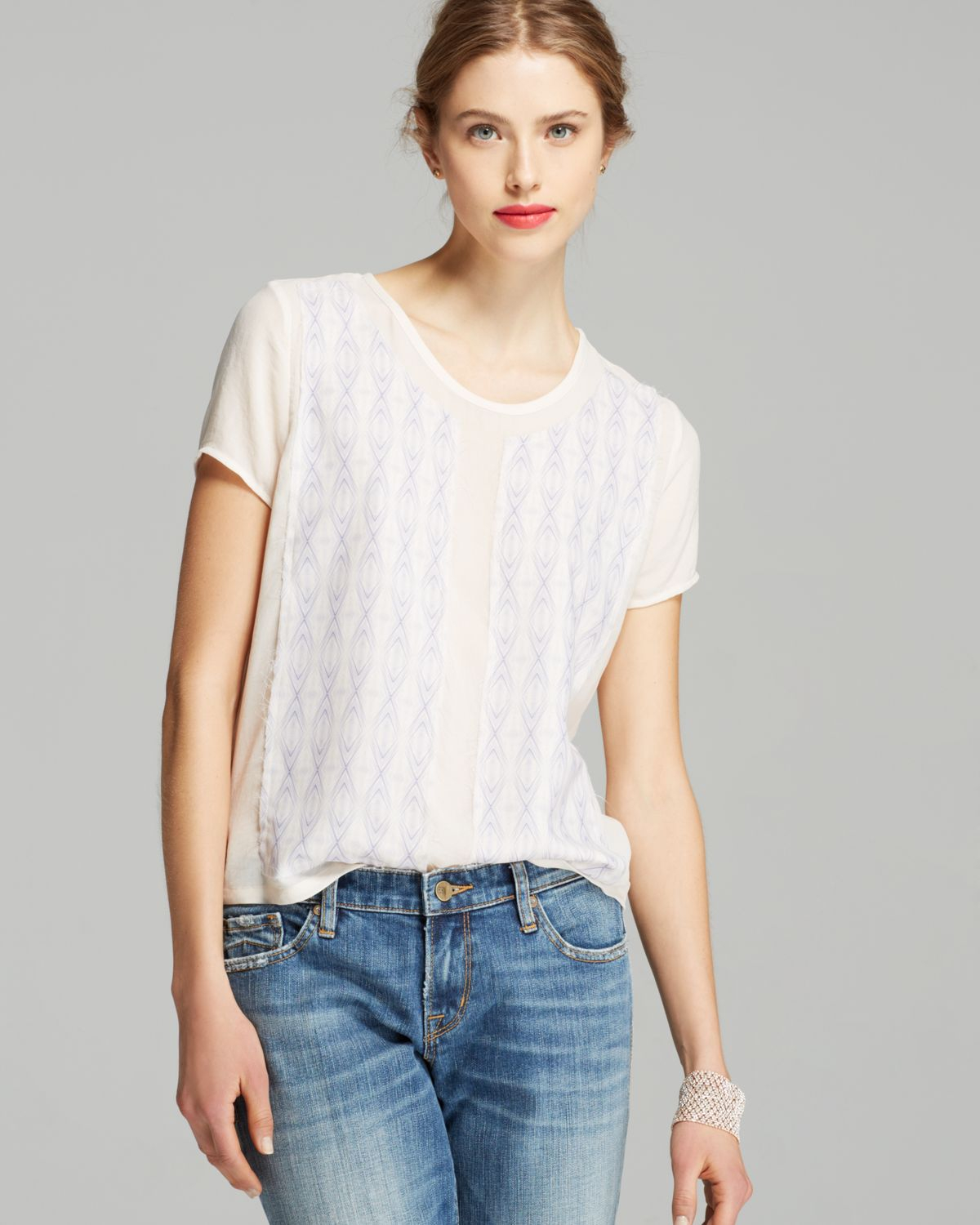 4abacd46bd745 Lyst - Joe s Jeans Blouse - Libby Silk in Pink