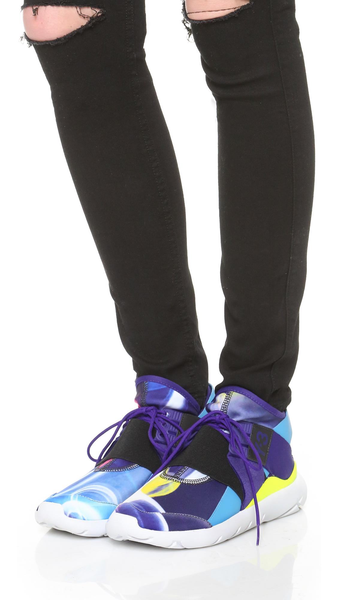19ea5c073933c Lyst - Y-3 Qasa Elle Lace Sneakers
