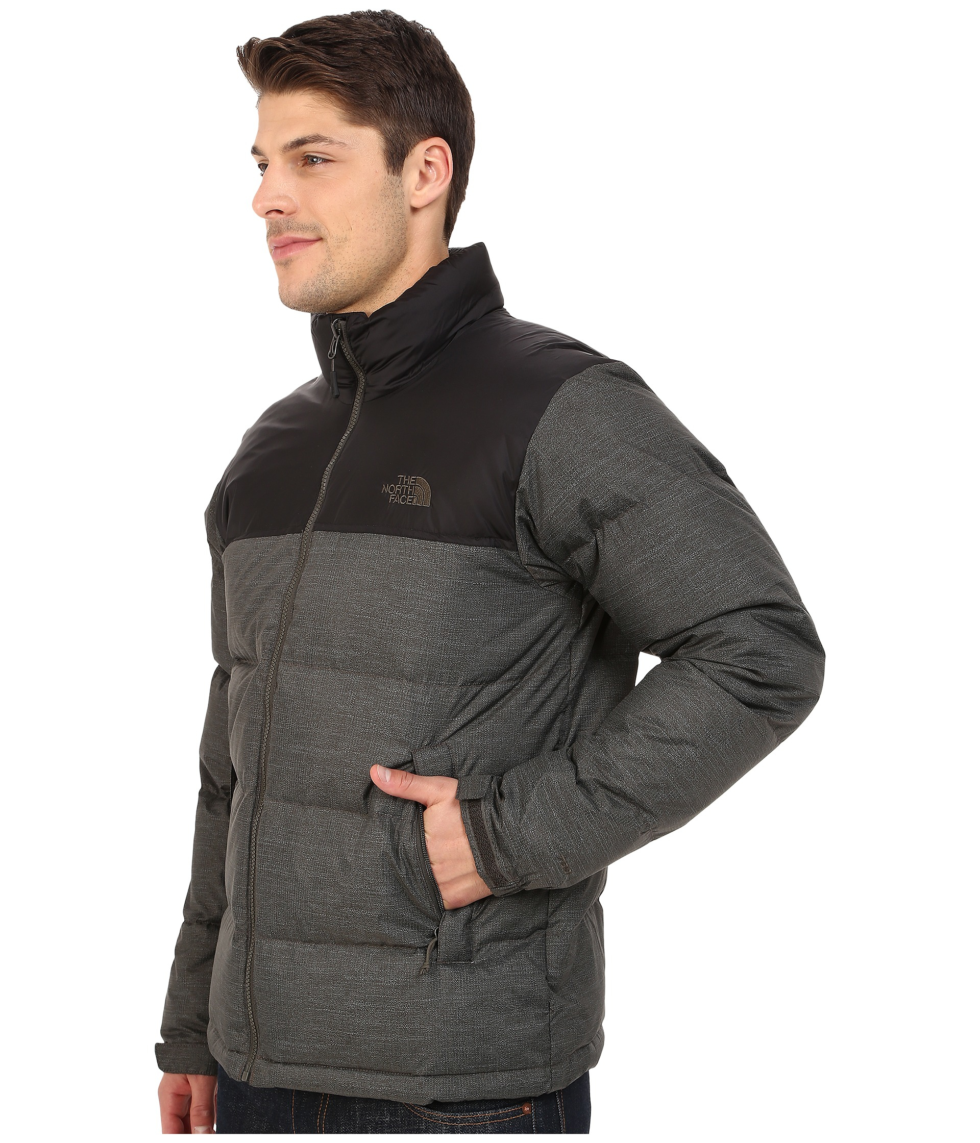 c393ad8d07 ... best price lyst the north face nuptse jacket in black for men 7a430  e3c43