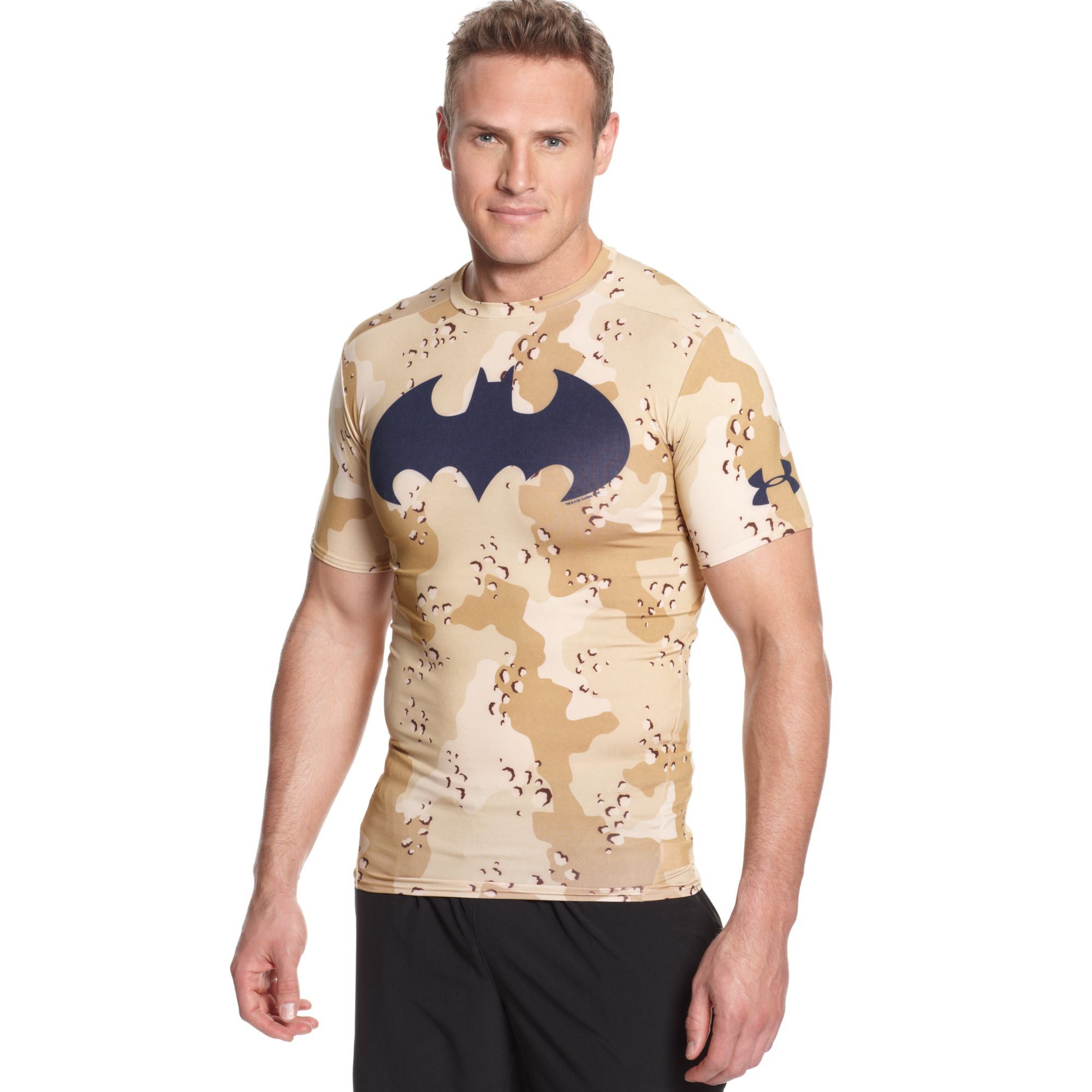 24b0e8be Under Armour Alter Ego Batman Camouflage Compression Tshirt in Brown ...